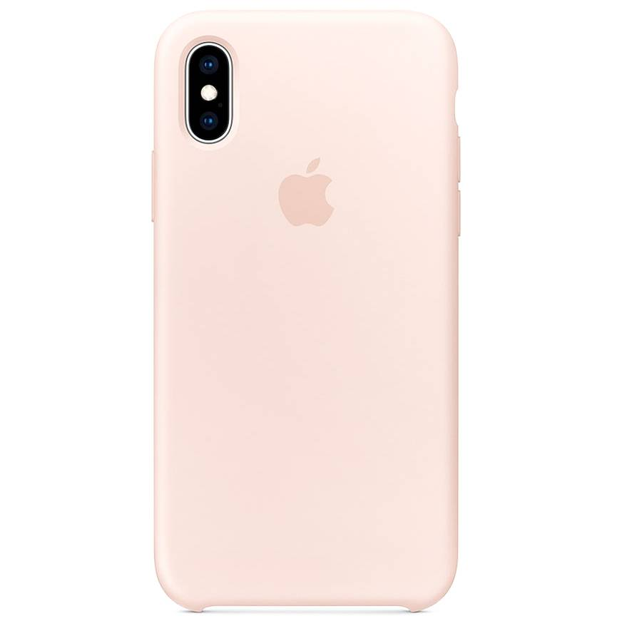 Apple Silicone Backcover iPhone Xs / X - Pink Sand