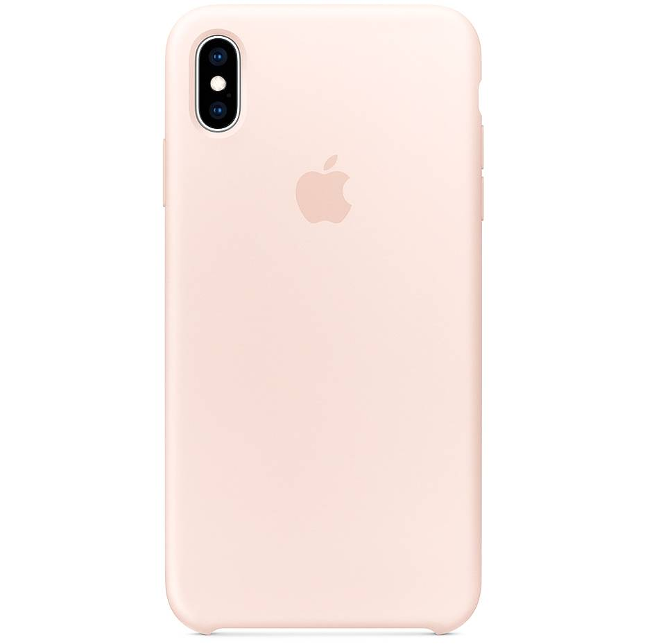 Apple Silicone Backcover iPhone Xs Max - Pink Sand