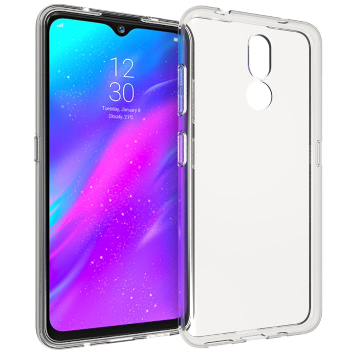 Accezz Clear Backcover Nokia 3.2 - Transparant