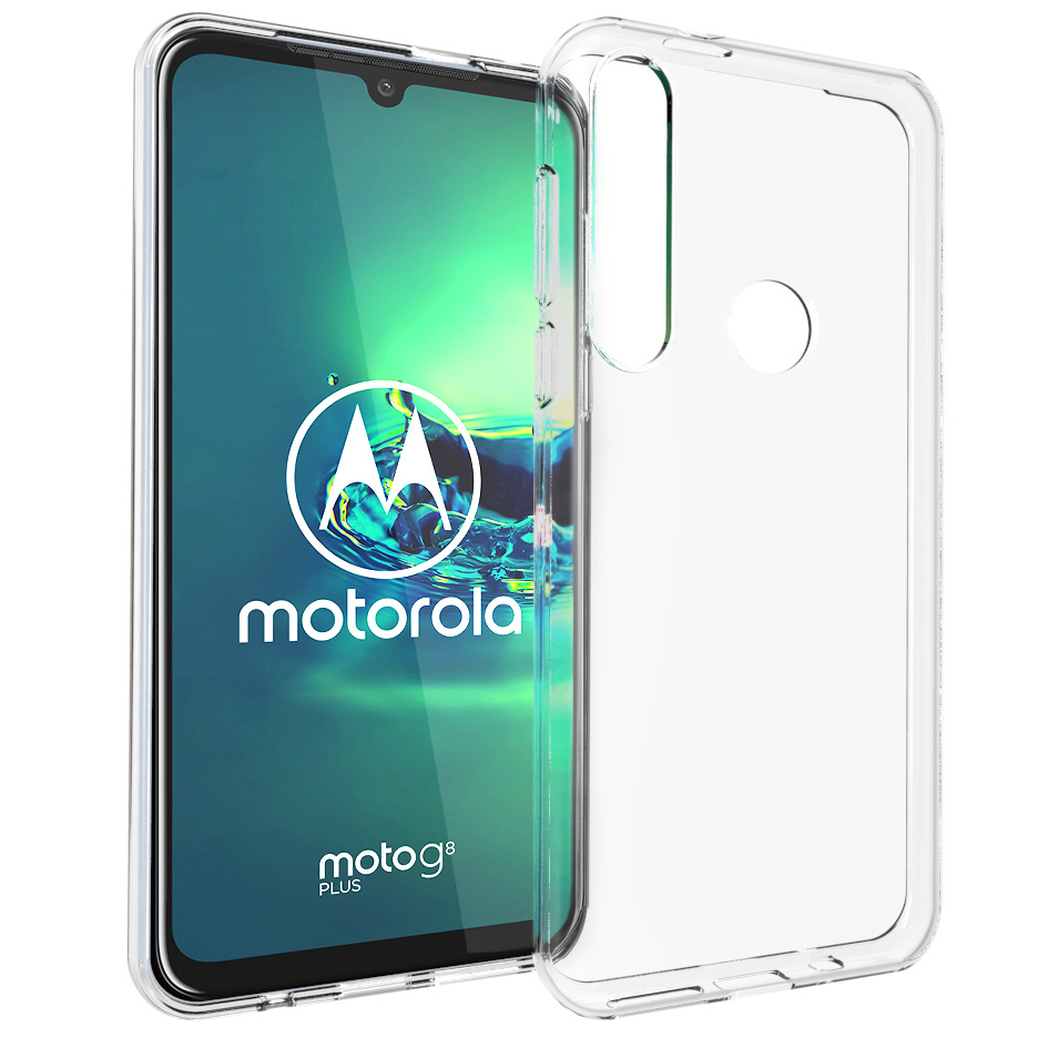 Accezz Clear Backcover Motorola Moto G8 Plus - Transparant