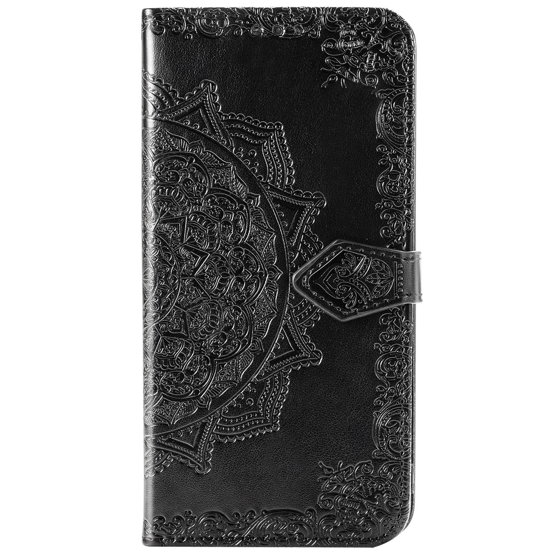 Mandala Booktype Motorola One Hyper - Zwart
