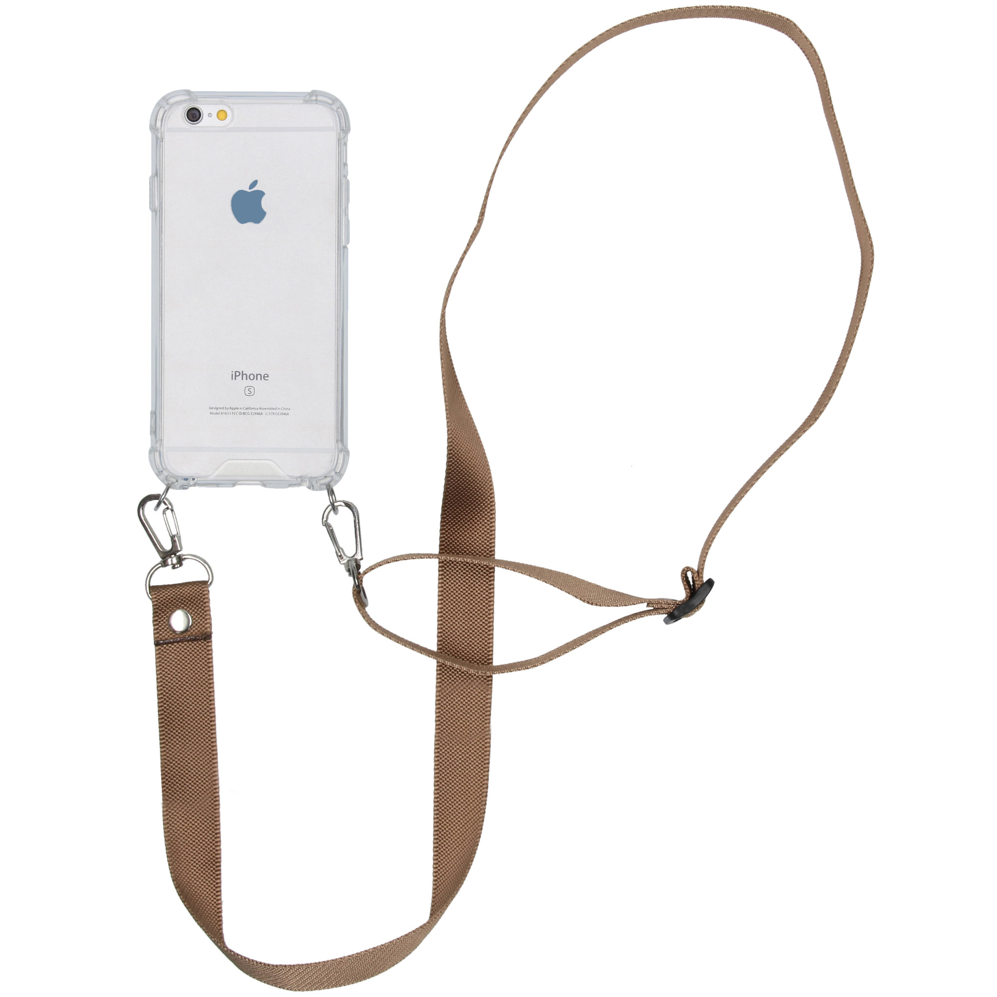 iMoshion Backcover met koord - Nylon iPhone 6 / 6s - Beige