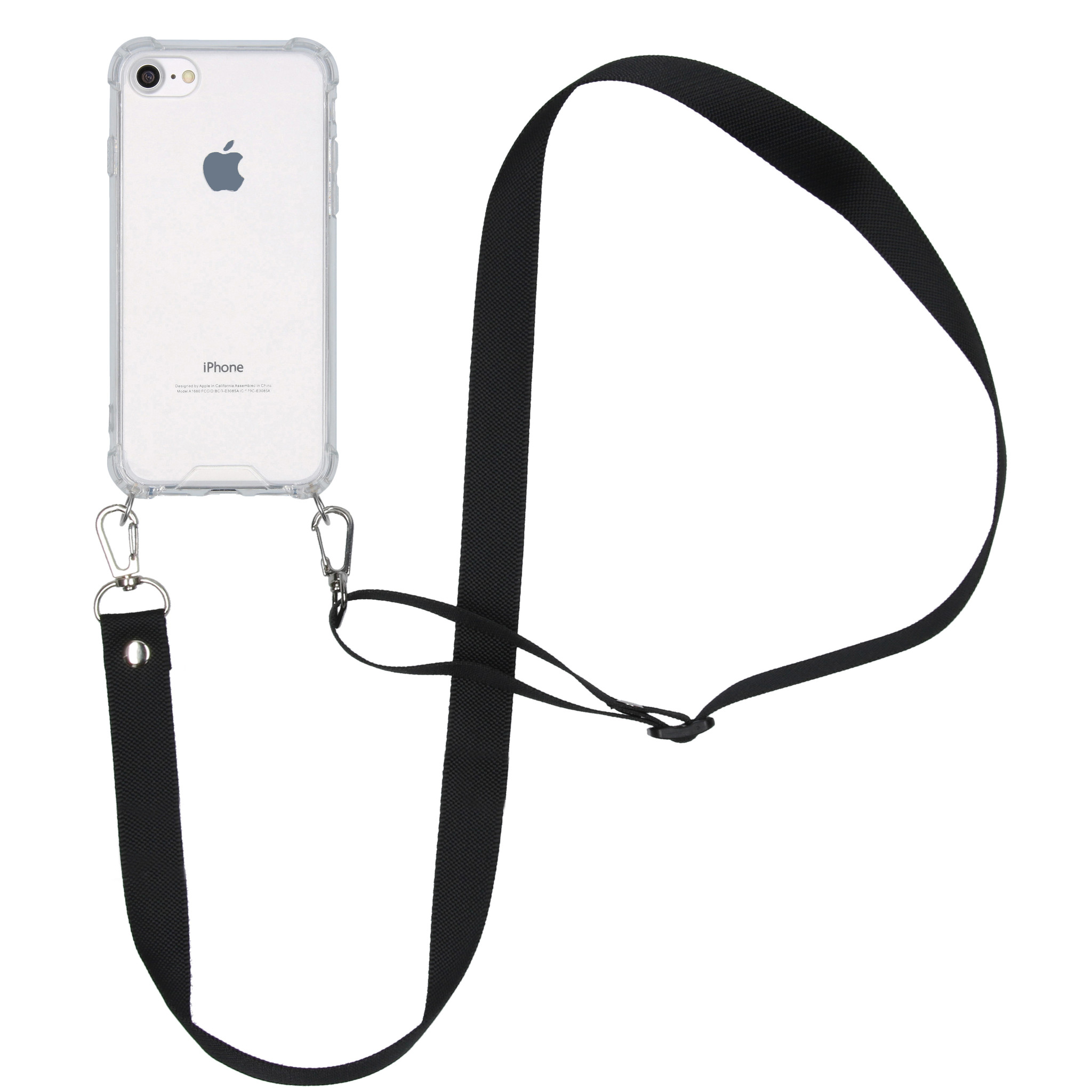 iMoshion Backcover met koord - Nylon iPhone SE (2020) / 8 / 7 - Zwart