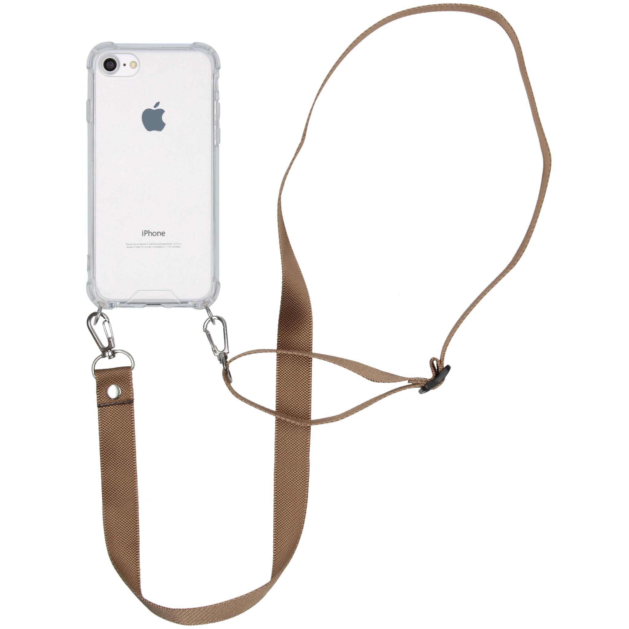 iMoshion Backcover met koord - Nylon iPhone SE (2020) / 8 / 7 - Beige