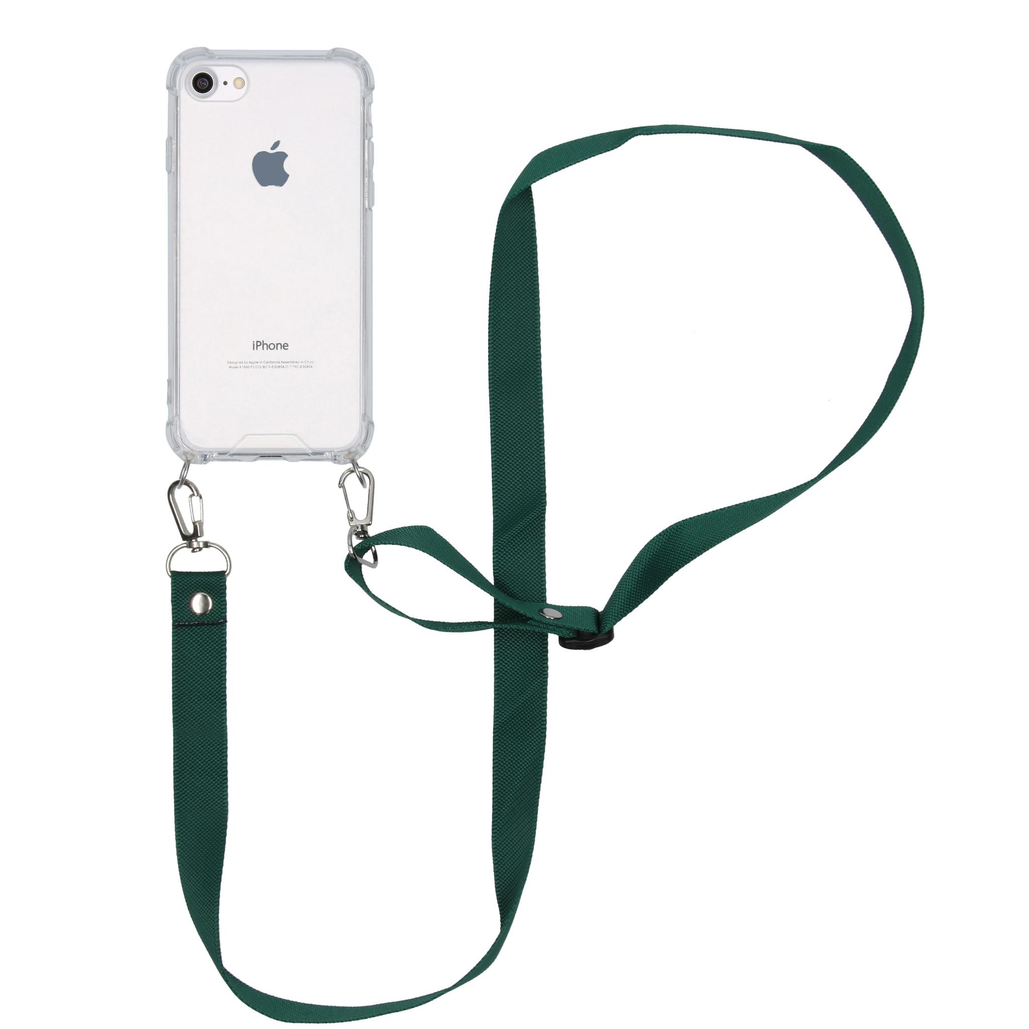 iMoshion Backcover met koord - Nylon iPhone SE (2020) / 8 / 7 - Groen