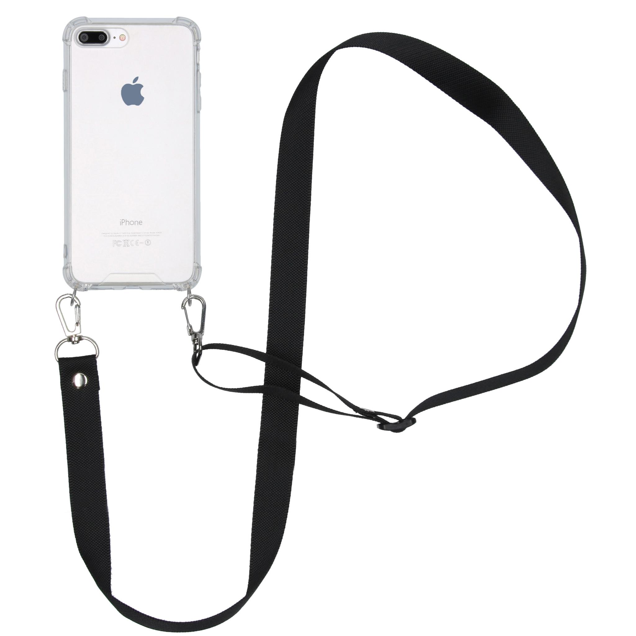 iMoshion Backcover met koord - Nylon iPhone 8 Plus / 7 Plus - Zwart