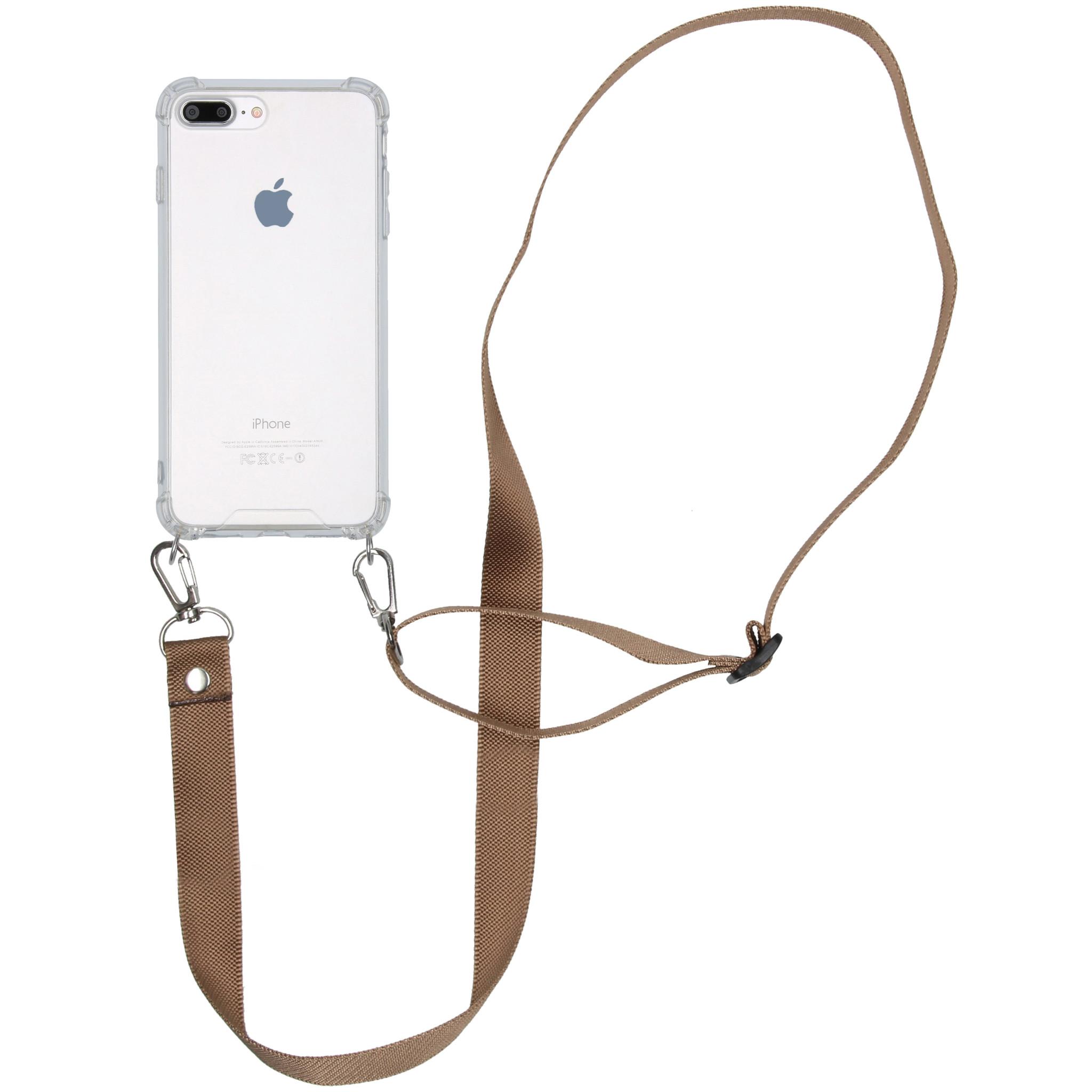 iMoshion Backcover met koord - Nylon iPhone 8 Plus / 7 Plus - Beige