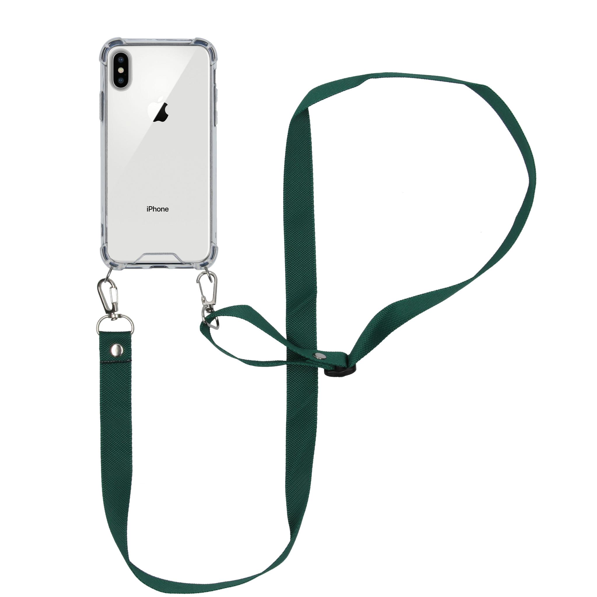 iMoshion Backcover met koord - Nylon iPhone Xs / X - Groen