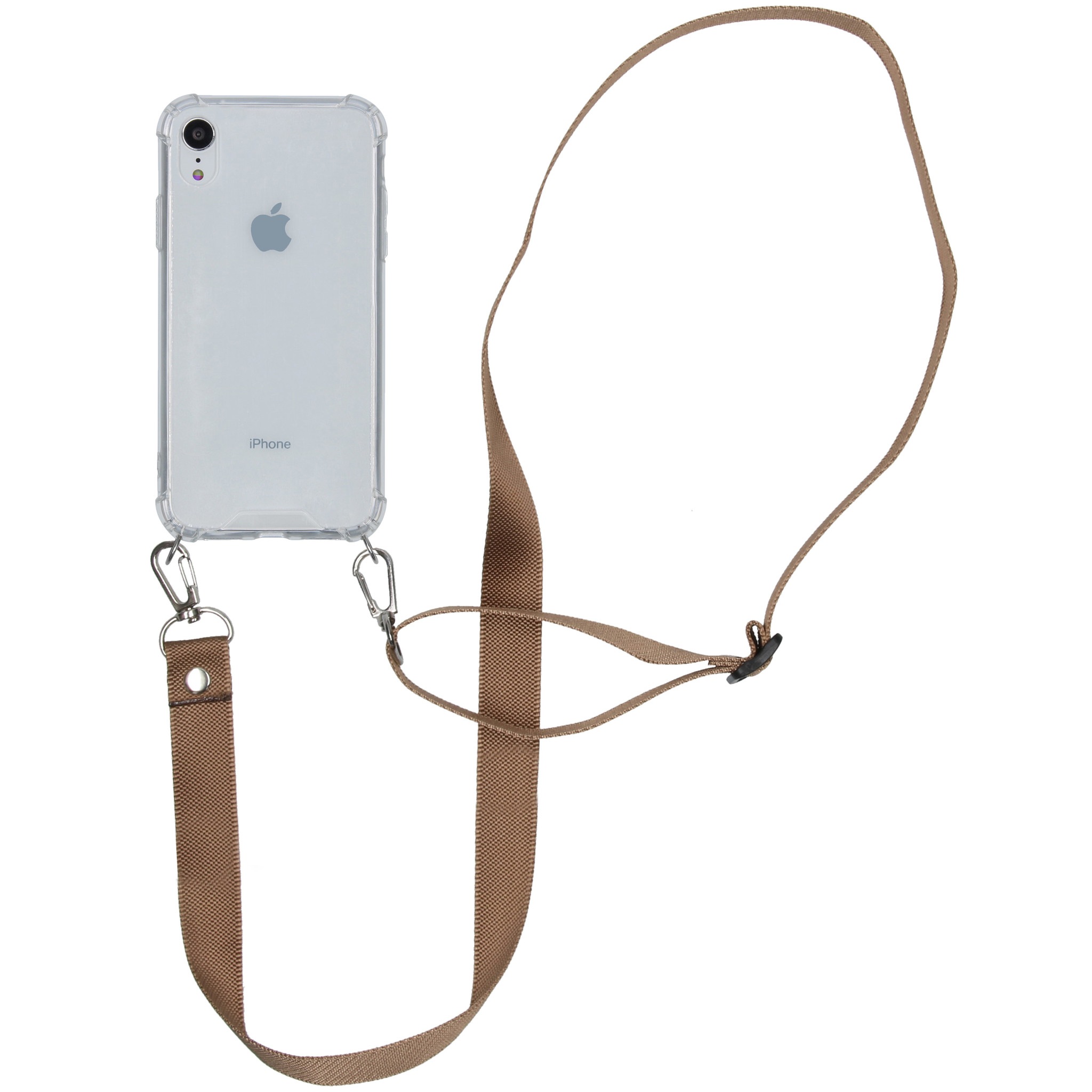iMoshion Backcover met koord - Nylon iPhone Xr - Beige