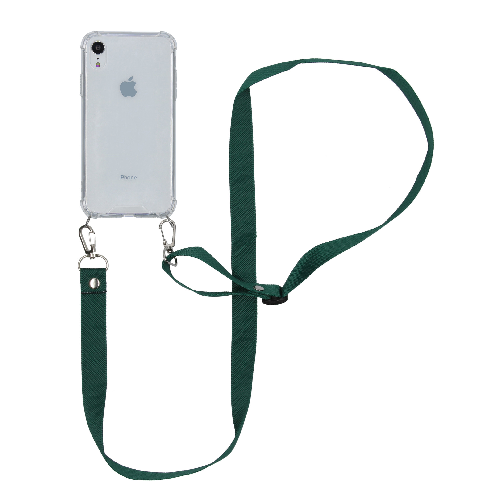 iMoshion Backcover met koord - Nylon iPhone Xr - Groen