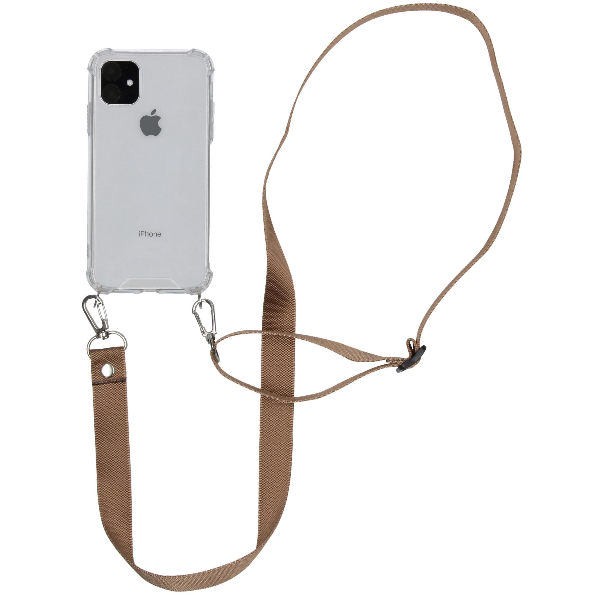 iMoshion Backcover met koord - Nylon iPhone 11 - Beige