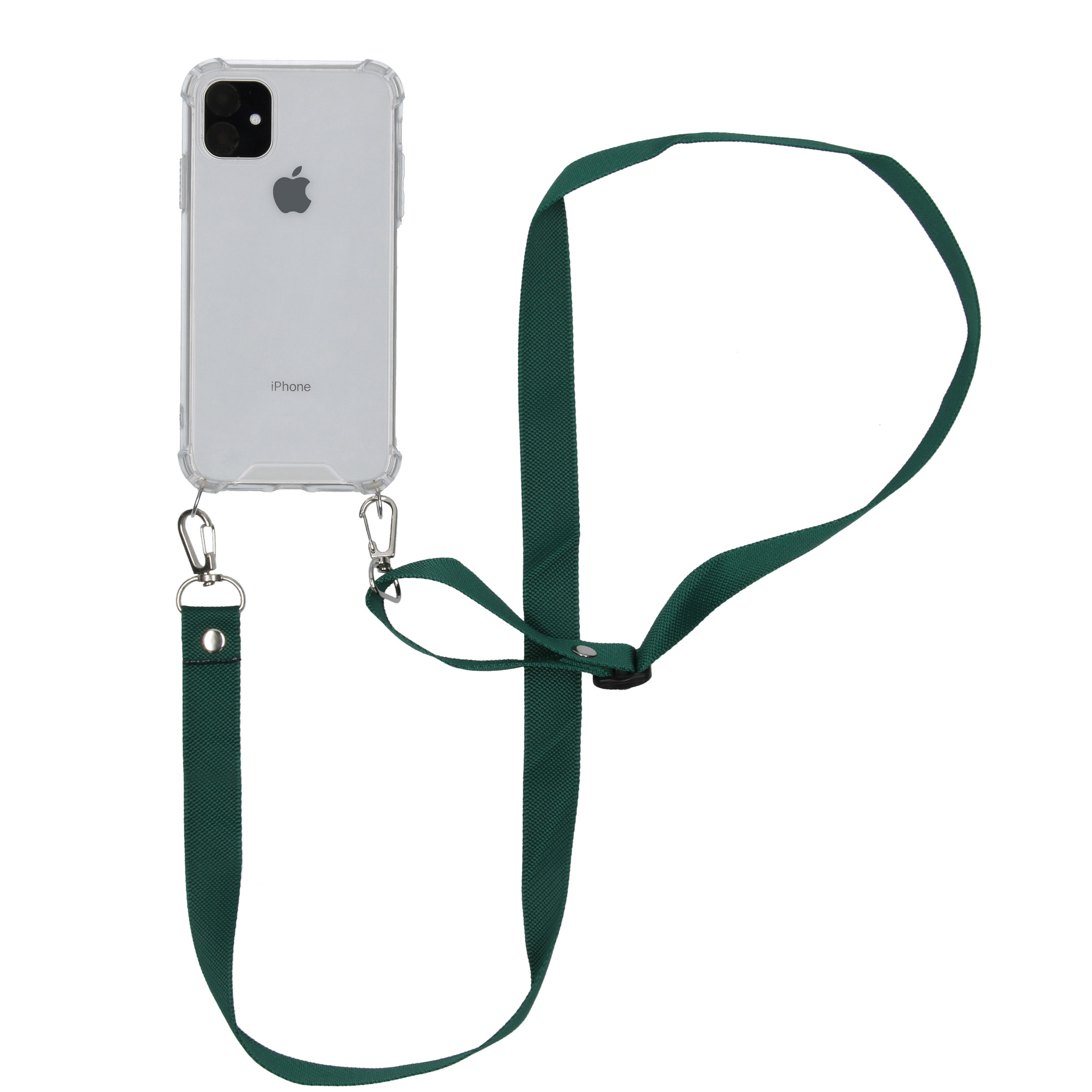 iMoshion Backcover met koord - Nylon iPhone 11 - Groen