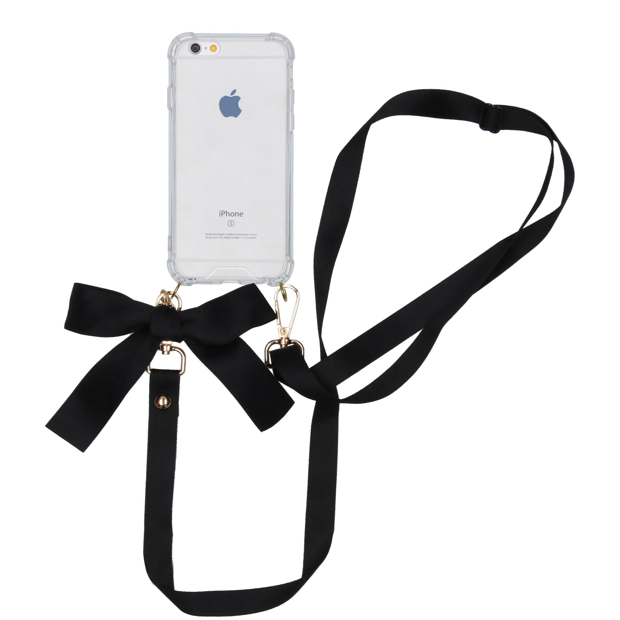 iMoshion Backcover met koord - Satijn iPhone 6 / 6s - Zwart
