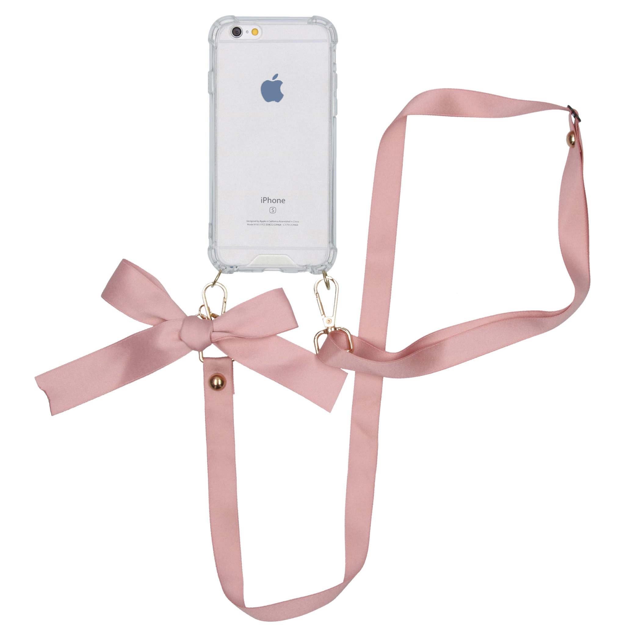 iMoshion Backcover met koord - Satijn iPhone 6 / 6s - Rosé Goud
