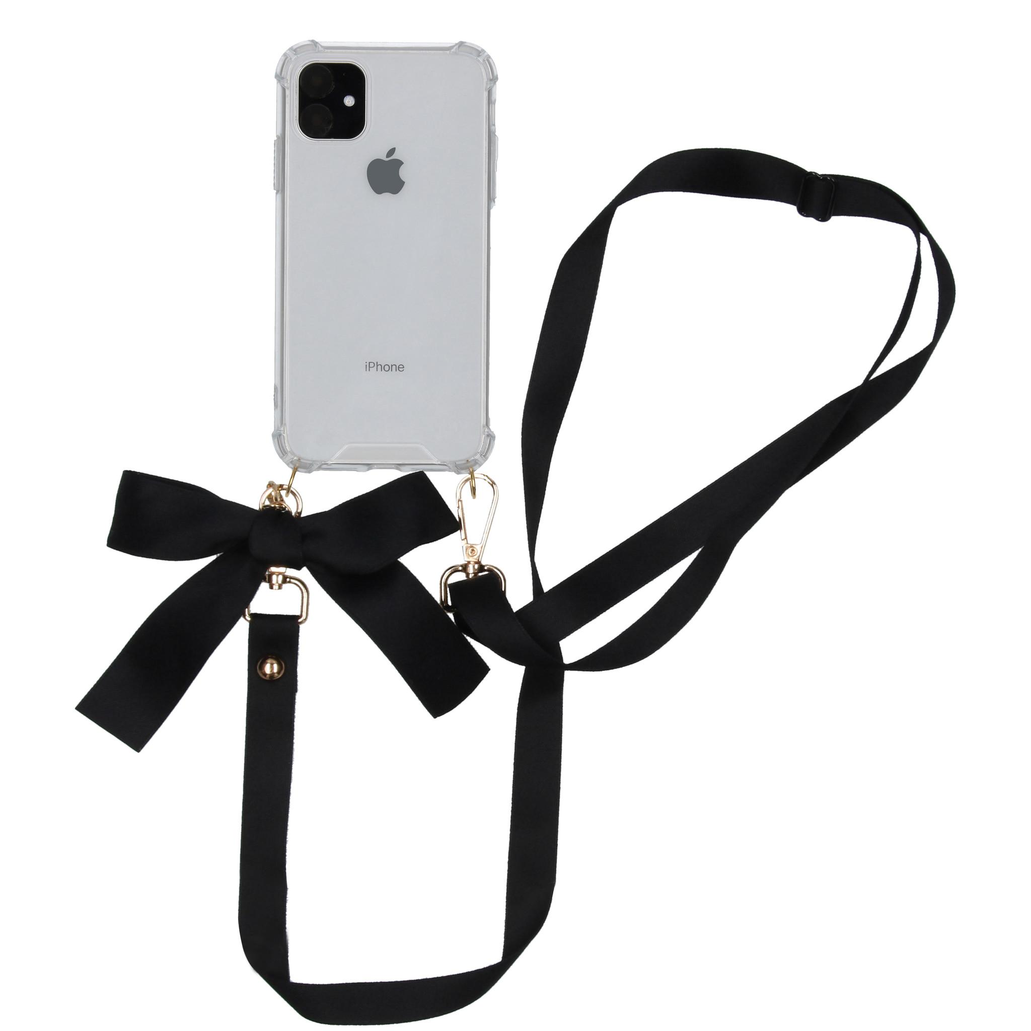 iMoshion Backcover met koord - Satijn iPhone 11 - Zwart