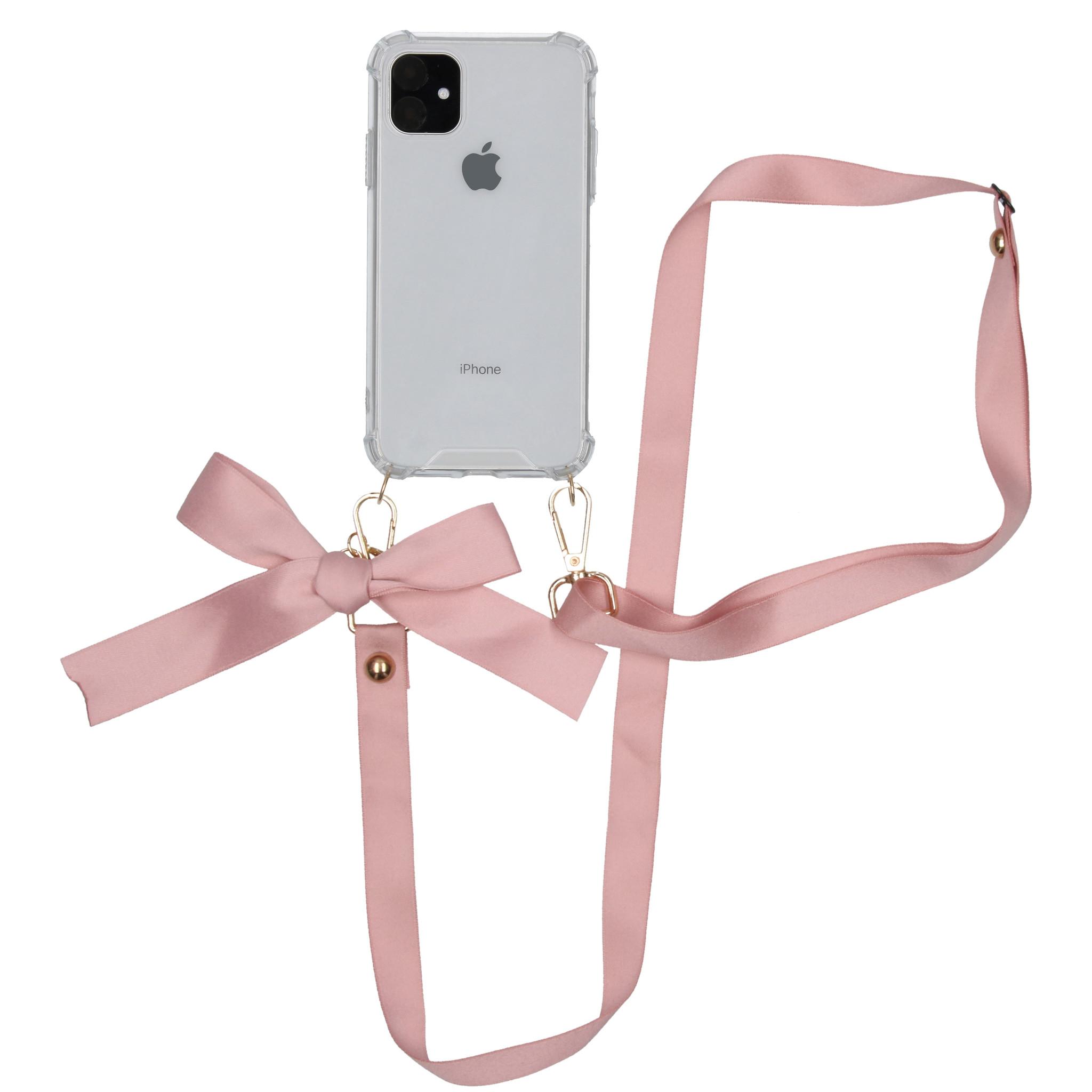 iMoshion Backcover met koord - Satijn iPhone 11 - Rosé Goud