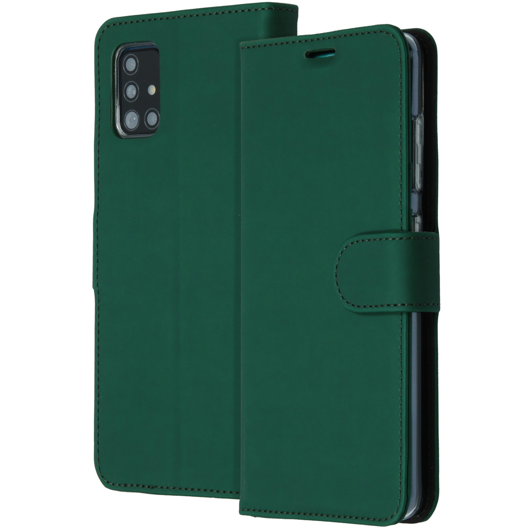 Accezz Wallet Softcase Booktype Samsung Galaxy A51 - Groen