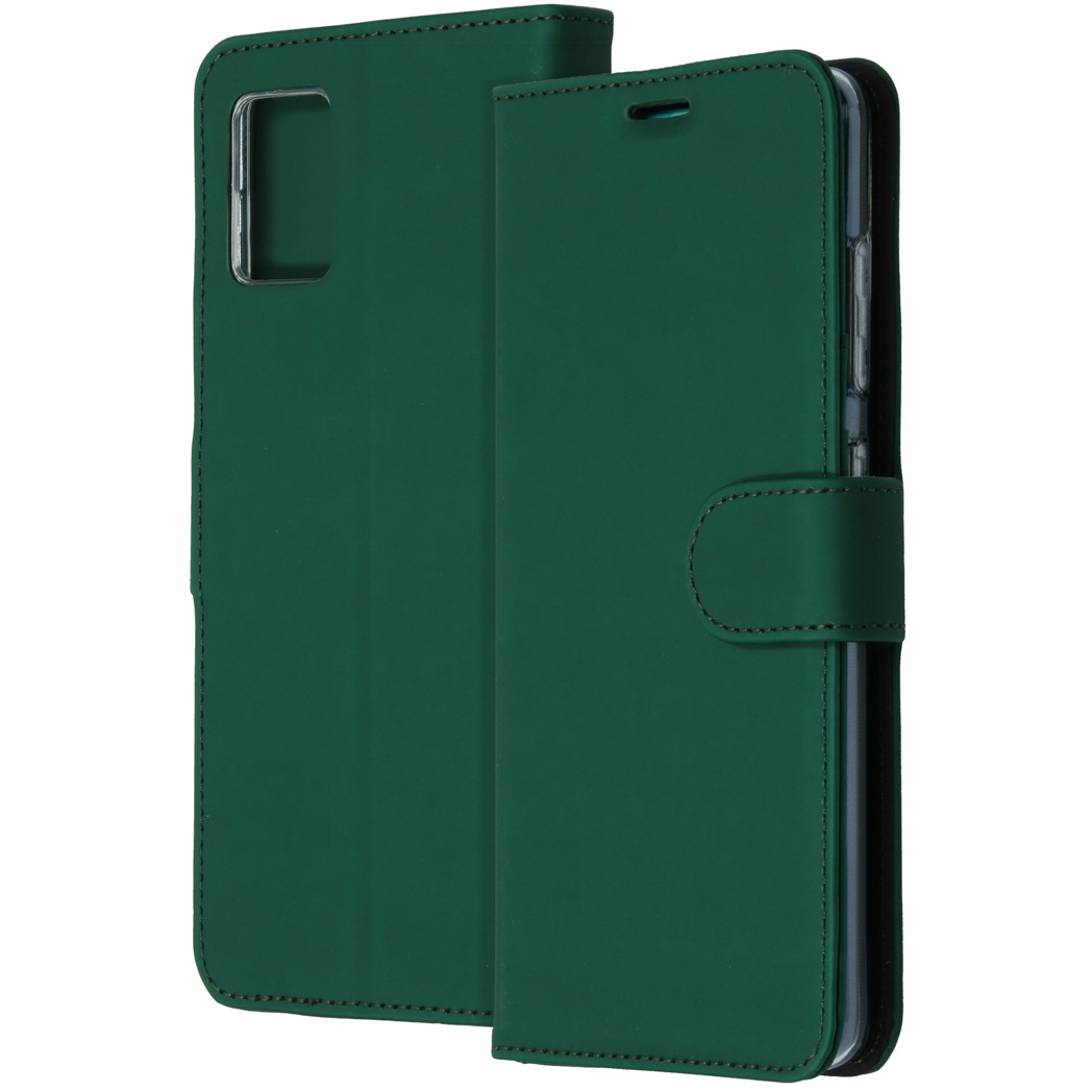 Accezz Wallet Softcase Booktype Samsung Galaxy A71 - Groen