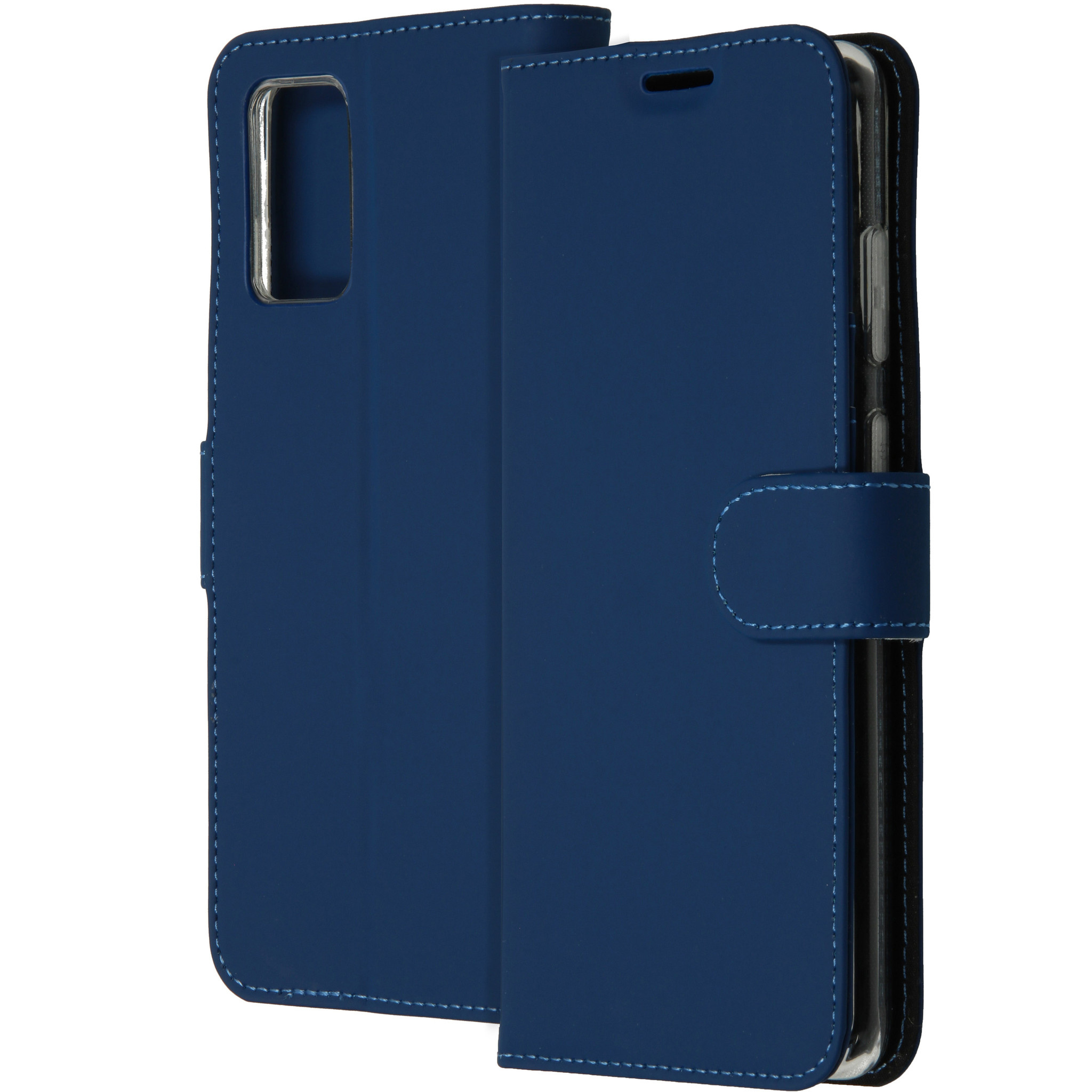 Accezz Wallet Softcase Booktype Samsung Galaxy S20 Plus - Blauw