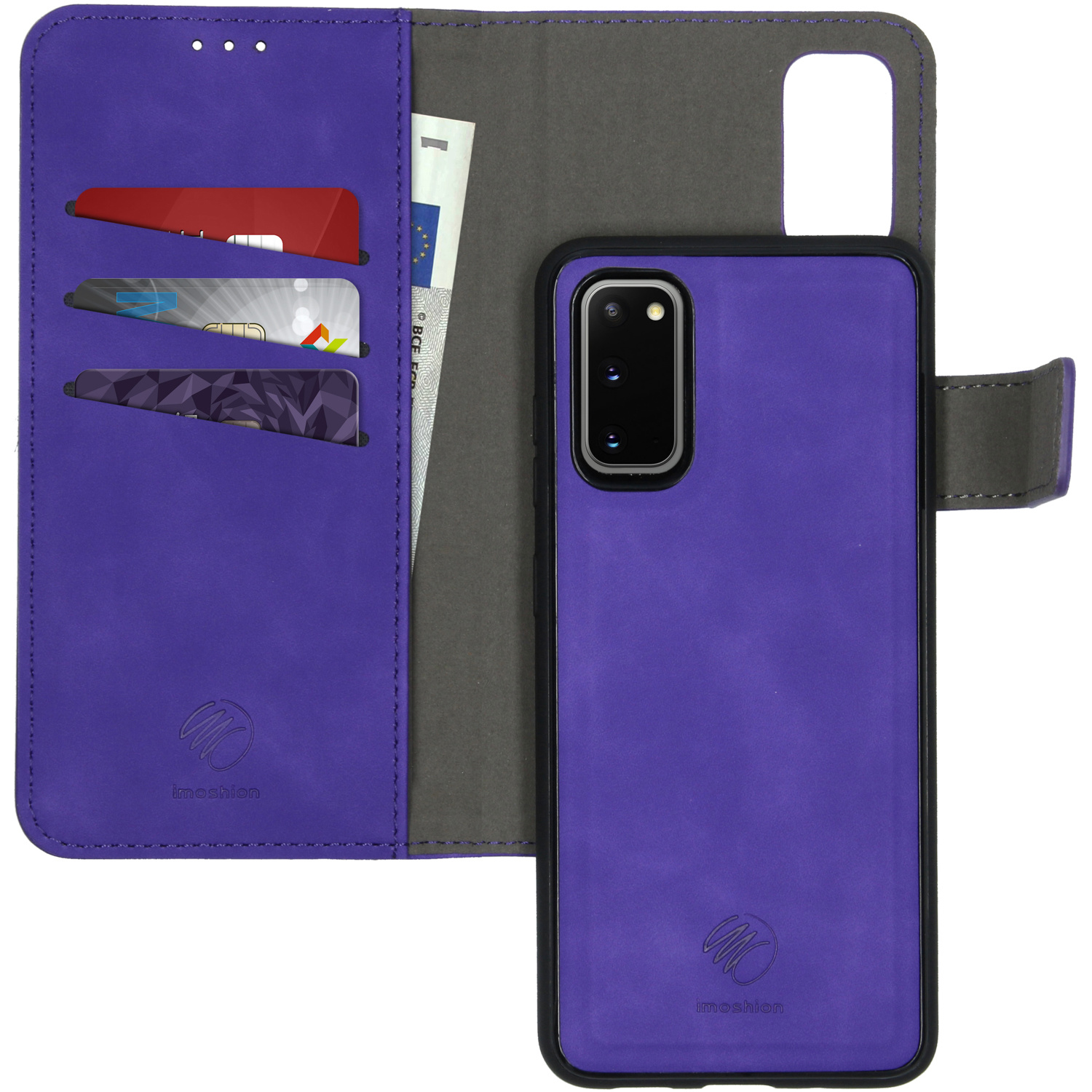 iMoshion Uitneembare 2-in-1 Luxe Booktype Samsung Galaxy S20 - Paars