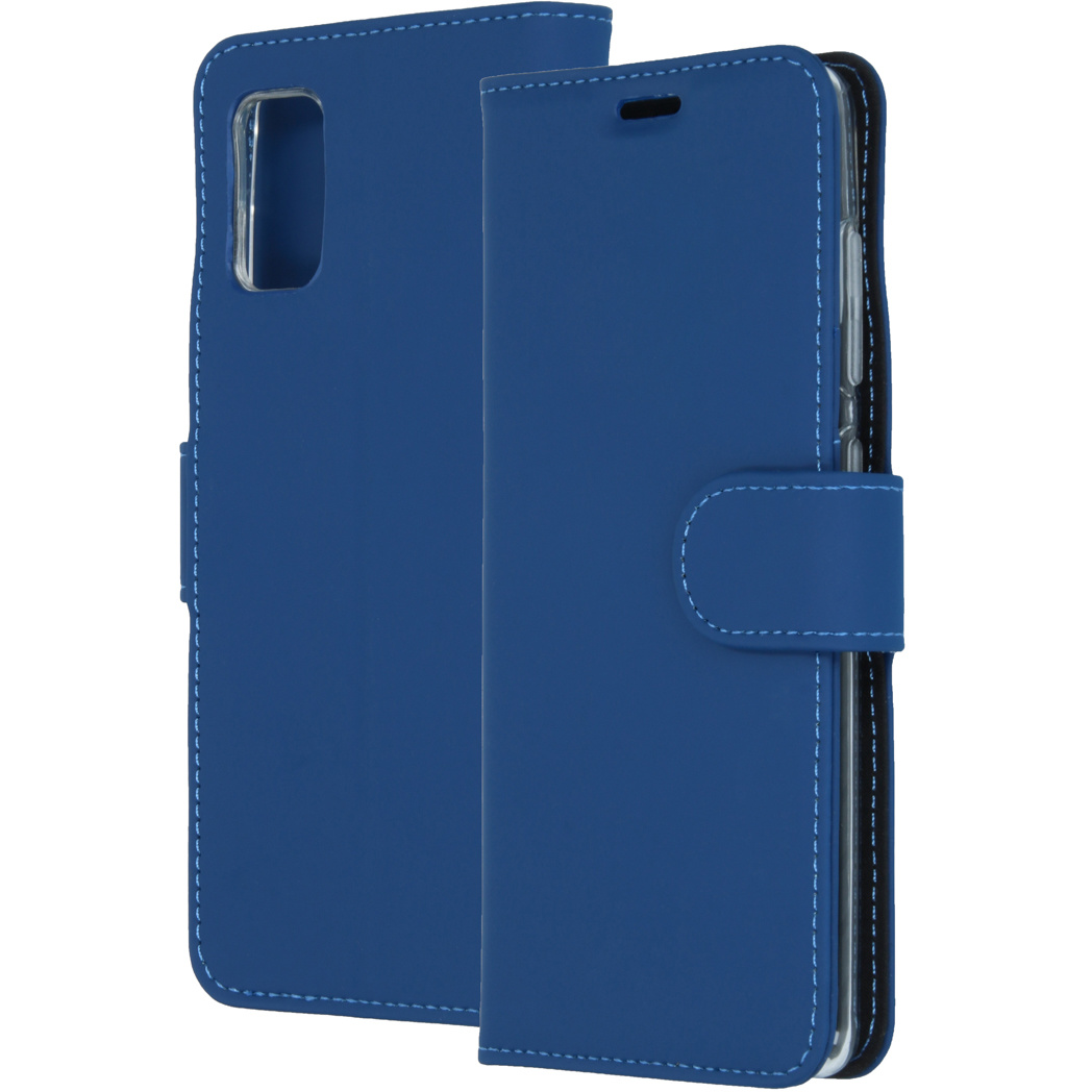 Accezz Wallet Softcase Booktype Samsung Galaxy A41 - Blauw