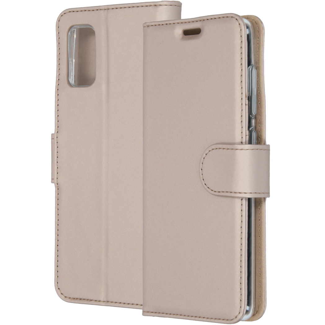 Accezz Wallet Softcase Booktype Samsung Galaxy A41 - Goud
