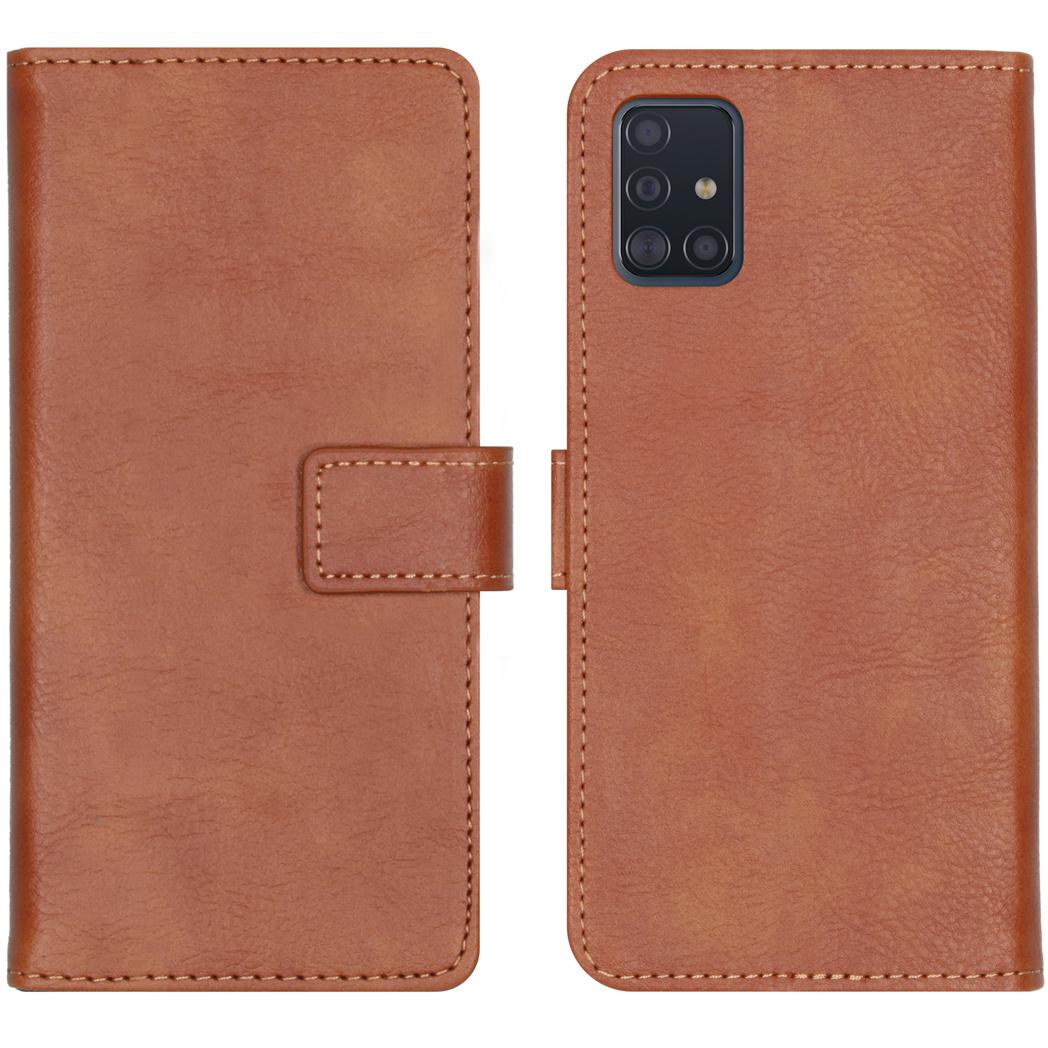 iMoshion Luxe Booktype Samsung Galaxy A51 - Bruin