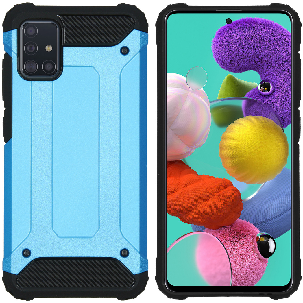 iMoshion Rugged Xtreme Backcover Samsung Galaxy A51 - Lichtblauw