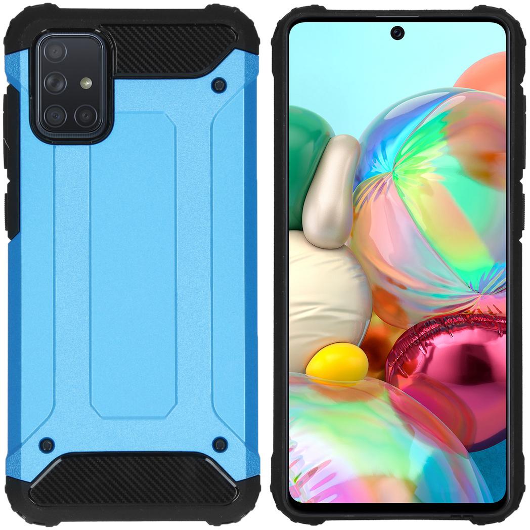 iMoshion Rugged Xtreme Backcover Samsung Galaxy A71 - Lichtblauw