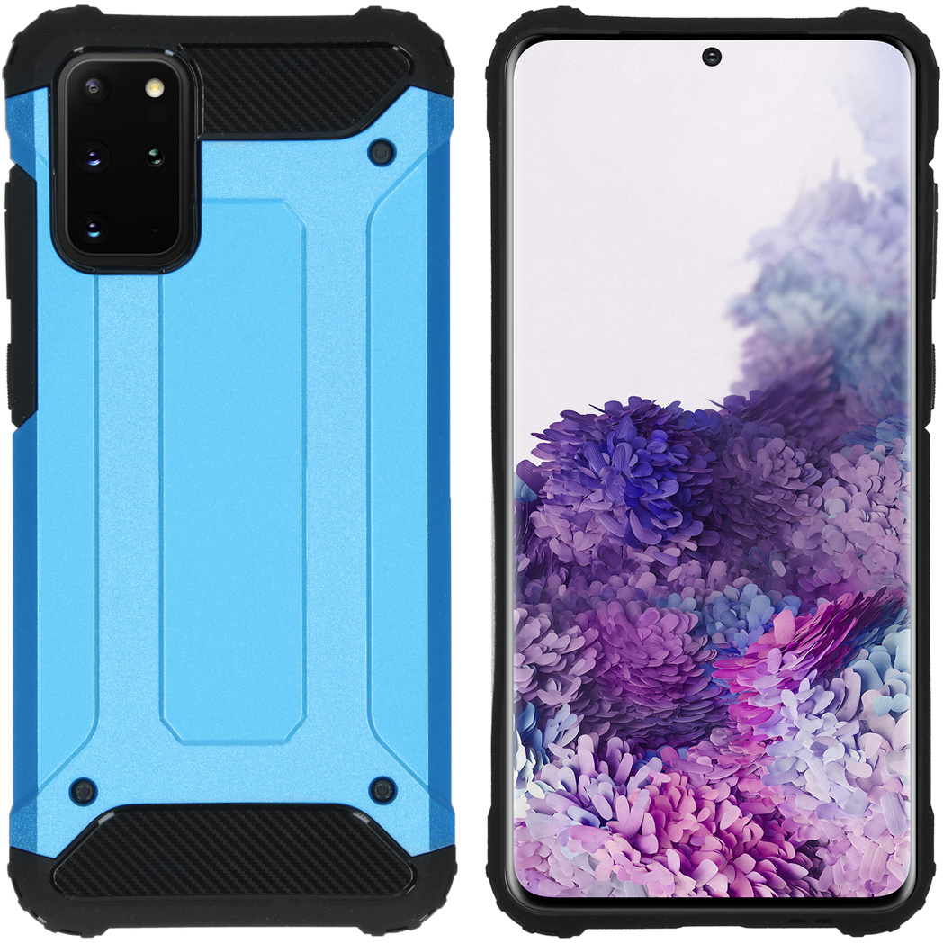 iMoshion Rugged Xtreme Backcover Samsung Galaxy S20 Plus - Lichtblauw