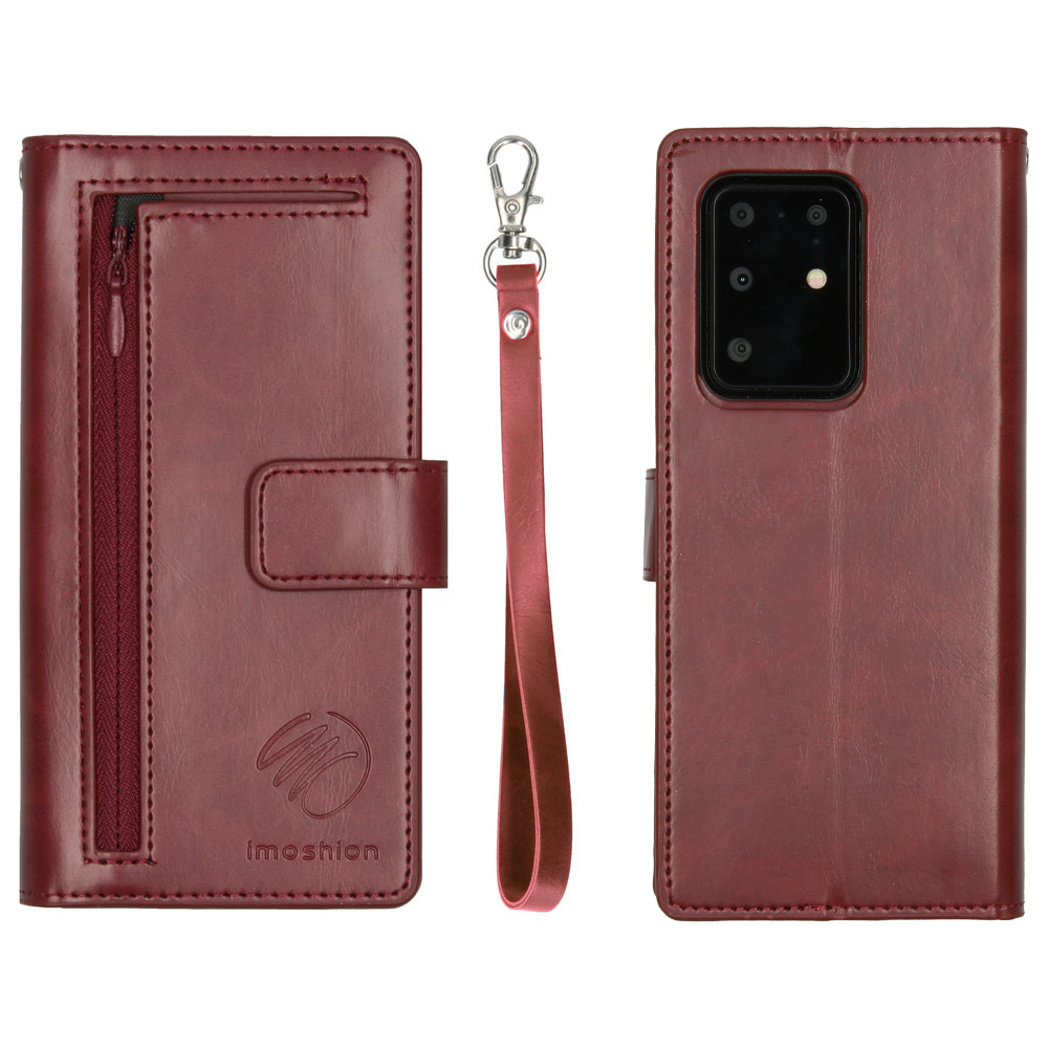 iMoshion Uitneembare 2-in-1 Booktype met rits Galaxy S20 Ultra - Rood