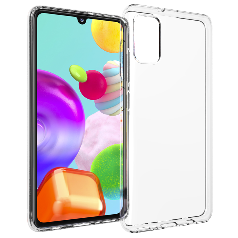 Accezz Clear Backcover Samsung Galaxy A41 - Transparant