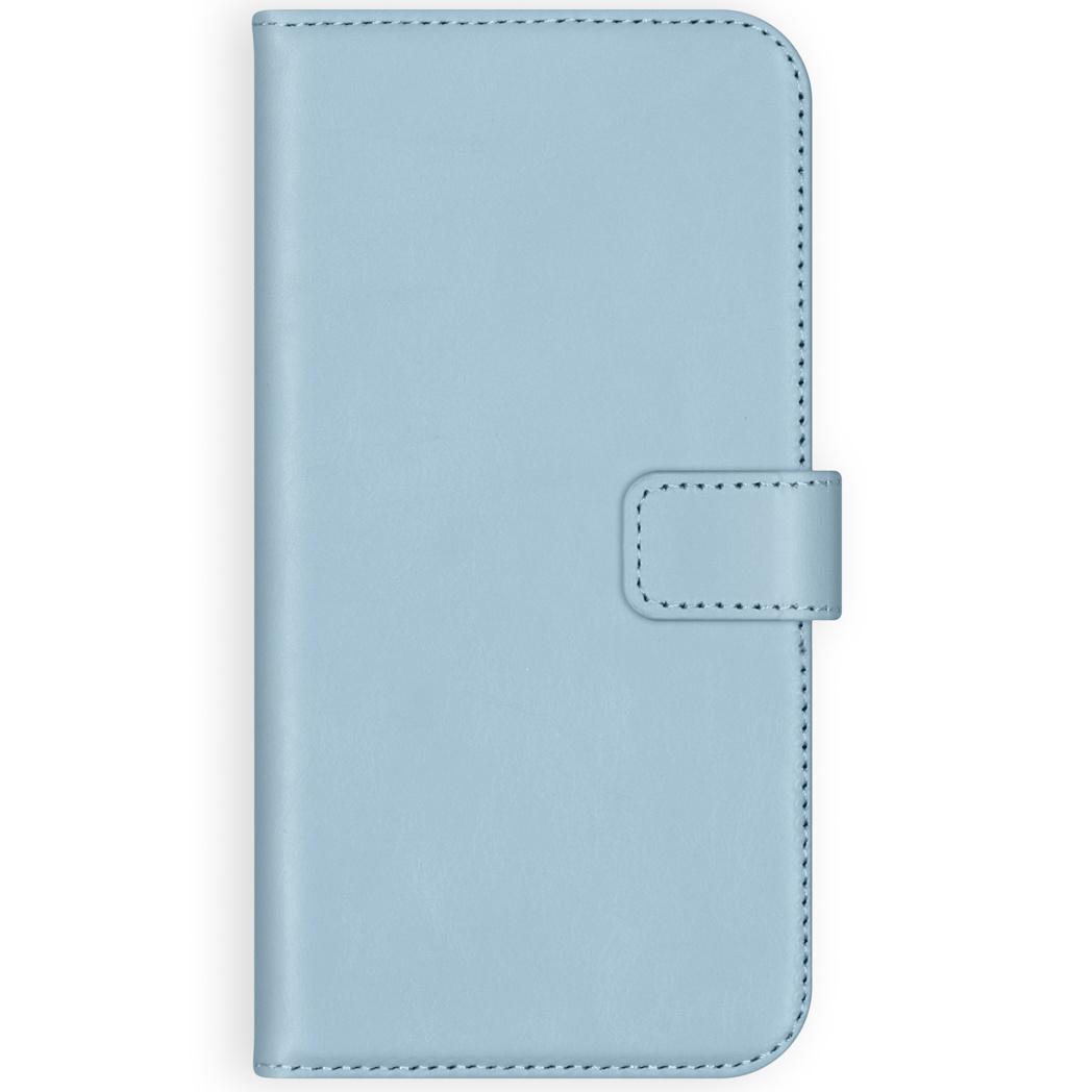 Selencia Echt Lederen Booktype Samsung Galaxy A50 / A30s - Lichtblauw