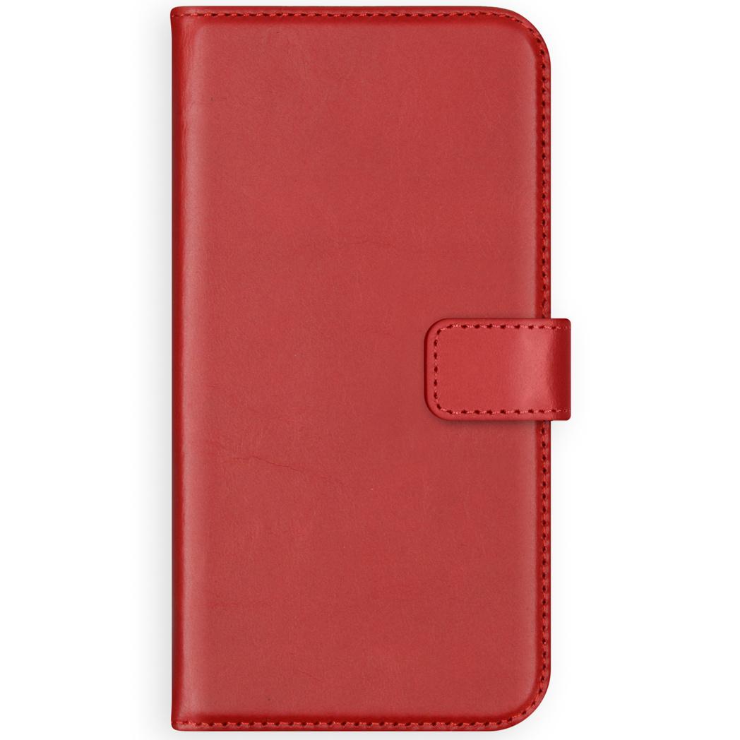 Selencia Echt Lederen Booktype Samsung Galaxy S10 Lite - Rood