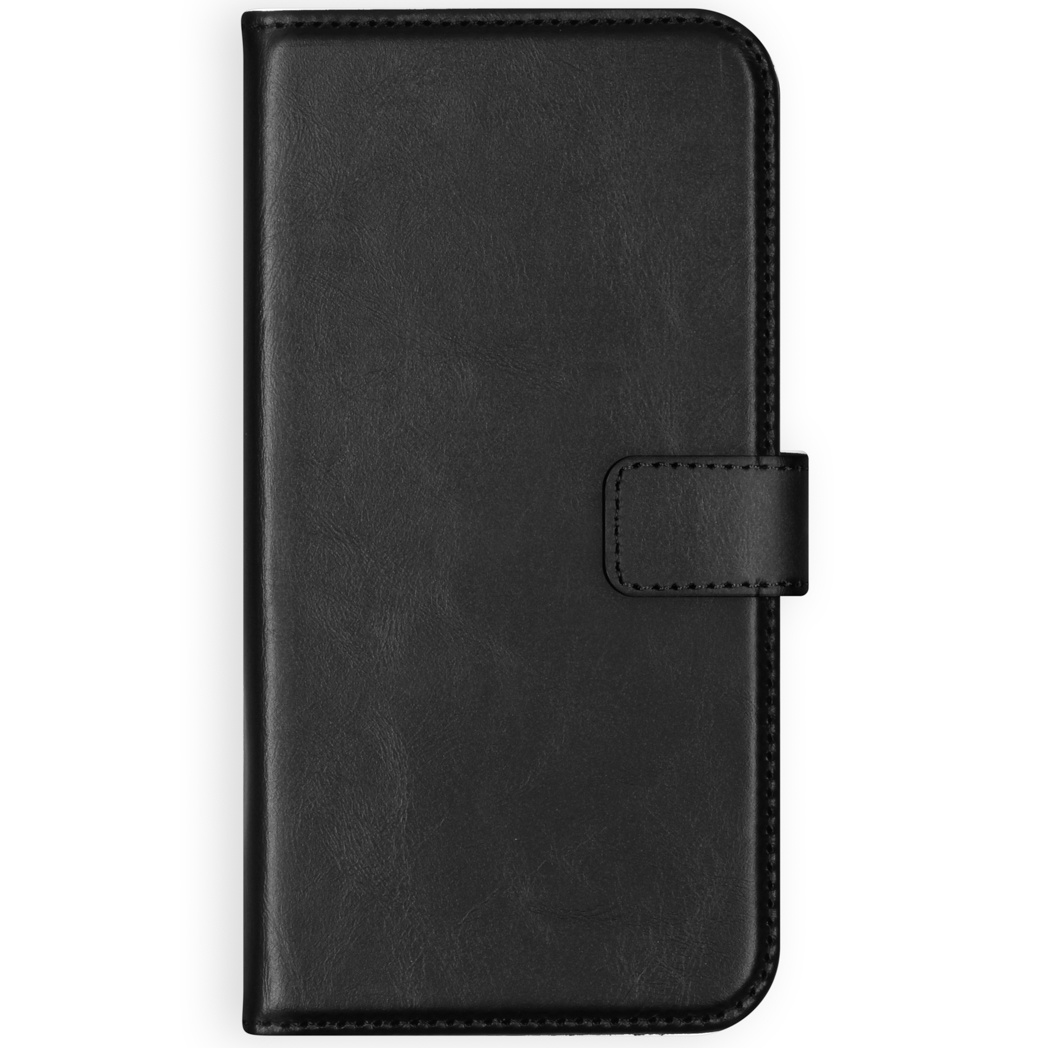 Selencia Echt Lederen Booktype Samsung Galaxy S10 Lite - Zwart