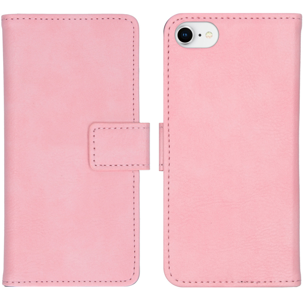 iMoshion Luxe Booktype iPhone SE (2020) / 8 / 7 / 6(s) - Roze