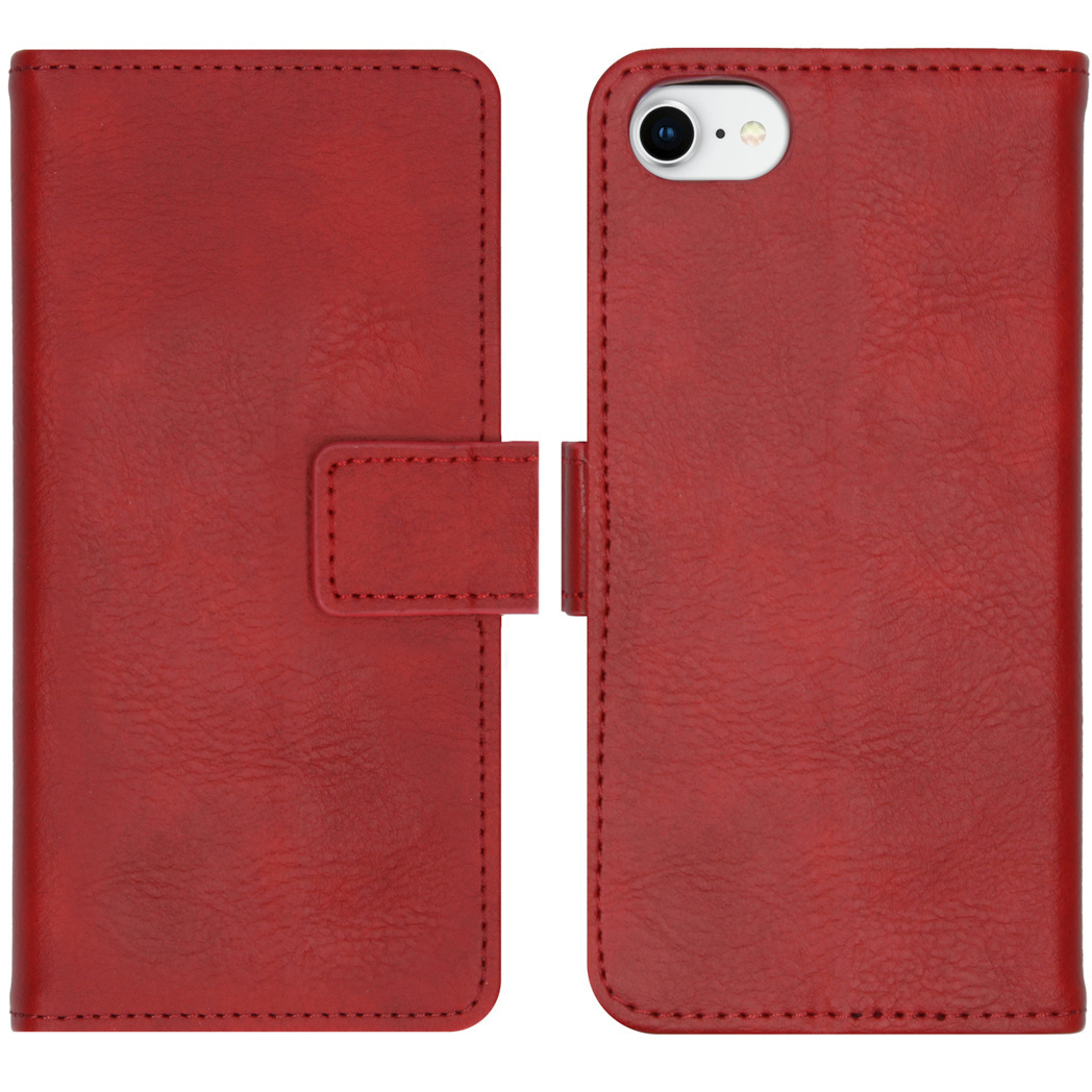 iMoshion Luxe Booktype iPhone SE (2020) / 8 / 7 / 6(s) - Rood