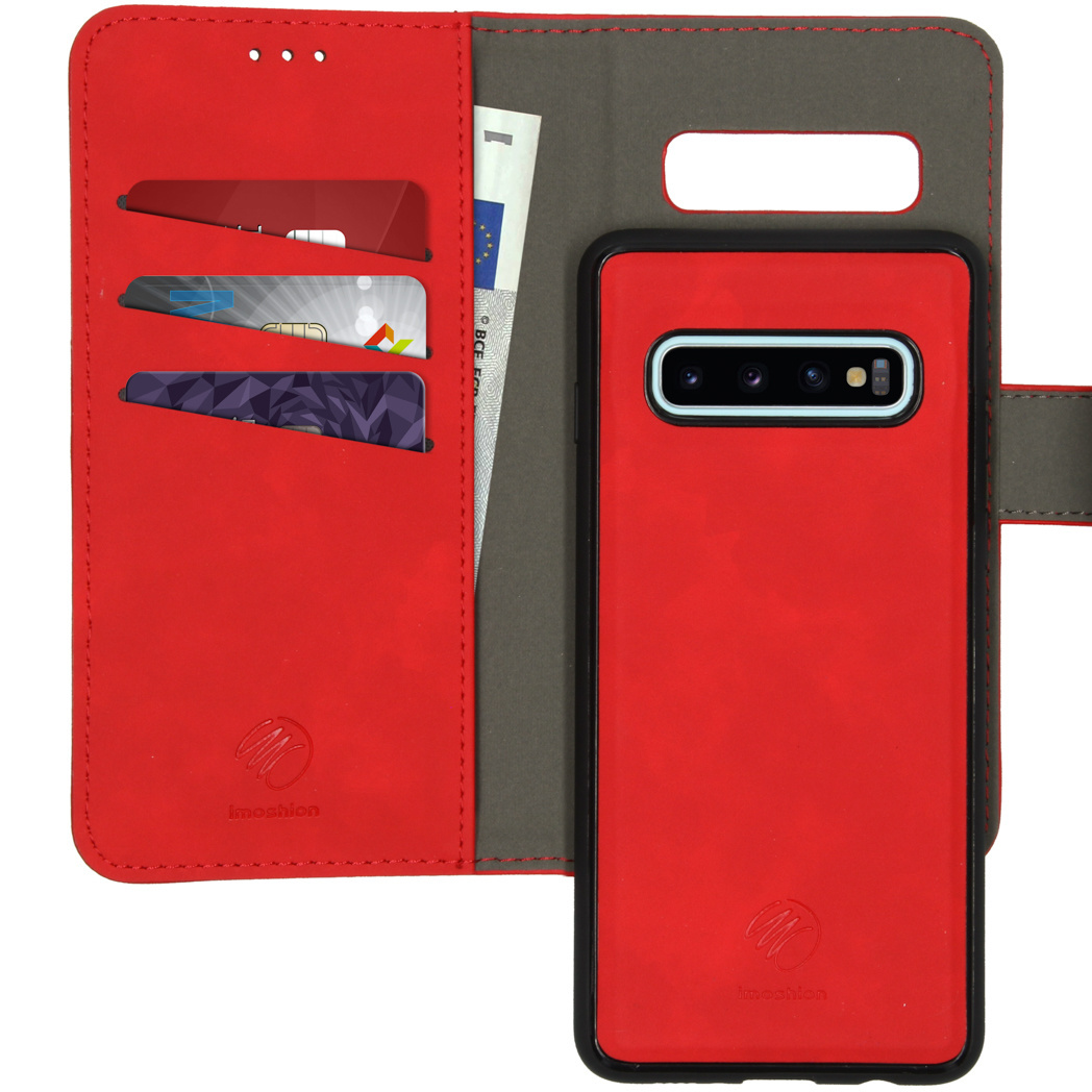 iMoshion Uitneembare 2-in-1 Luxe Booktype Samsung Galaxy S10 - Rood