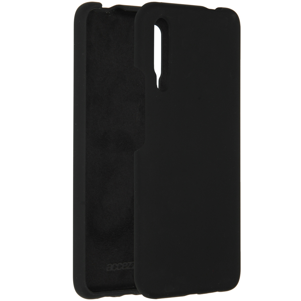 Accezz Liquid Silicone Backcover P Smart Pro / Huawei Y9s - Zwart