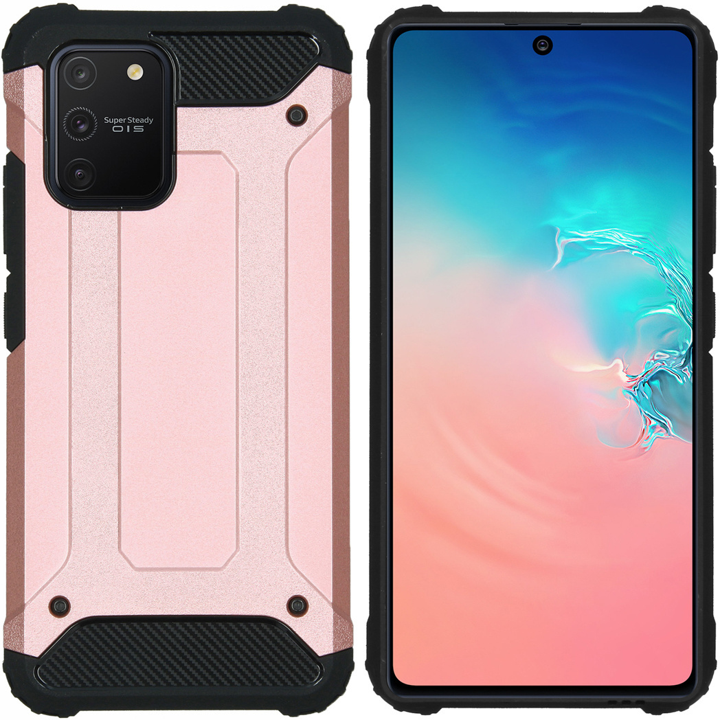 iMoshion Rugged Xtreme Backcover Samsung Galaxy S10 Lite - Rosé Goud