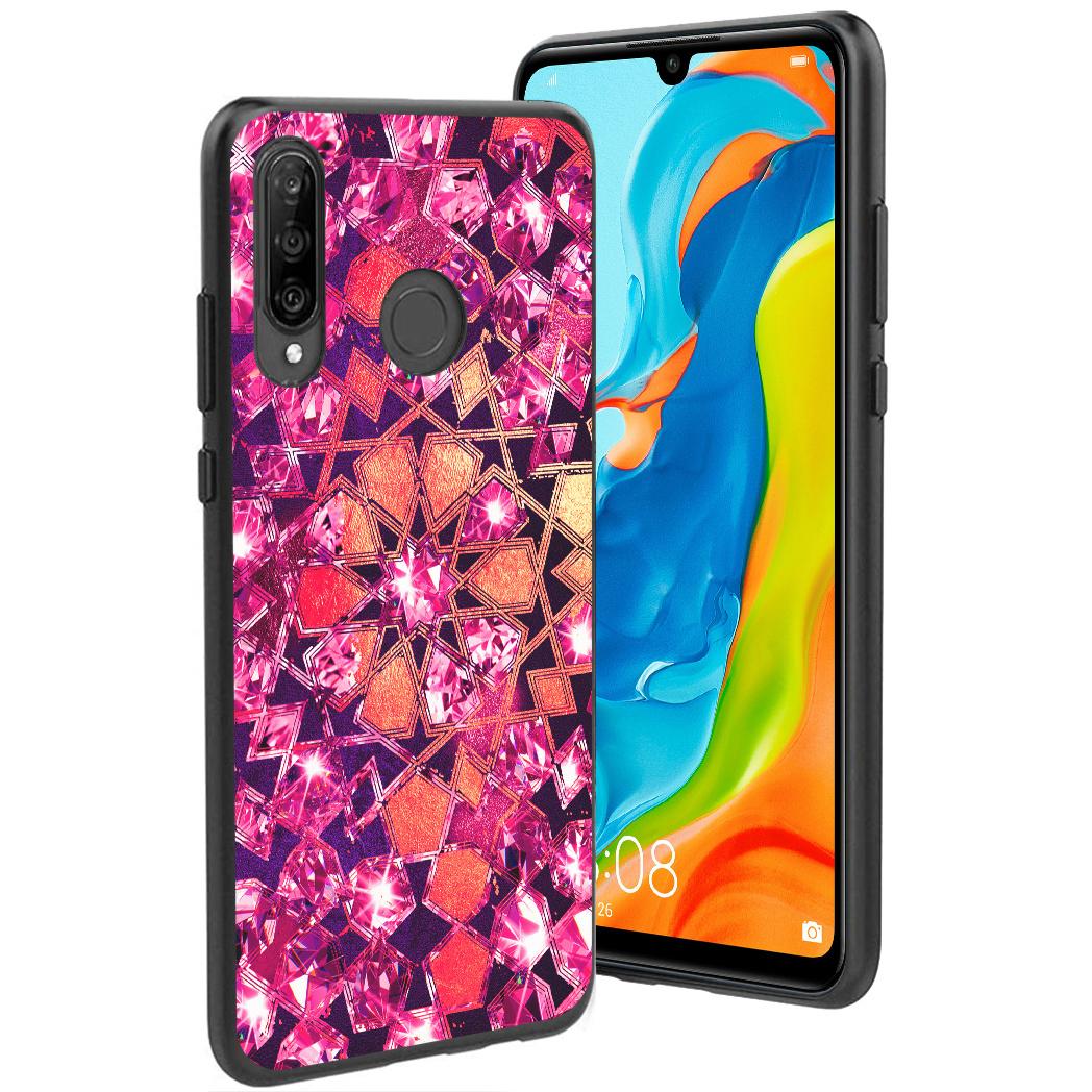 iMoshion Design hoesje Huawei P30 Lite - Grafisch - Roze Bling