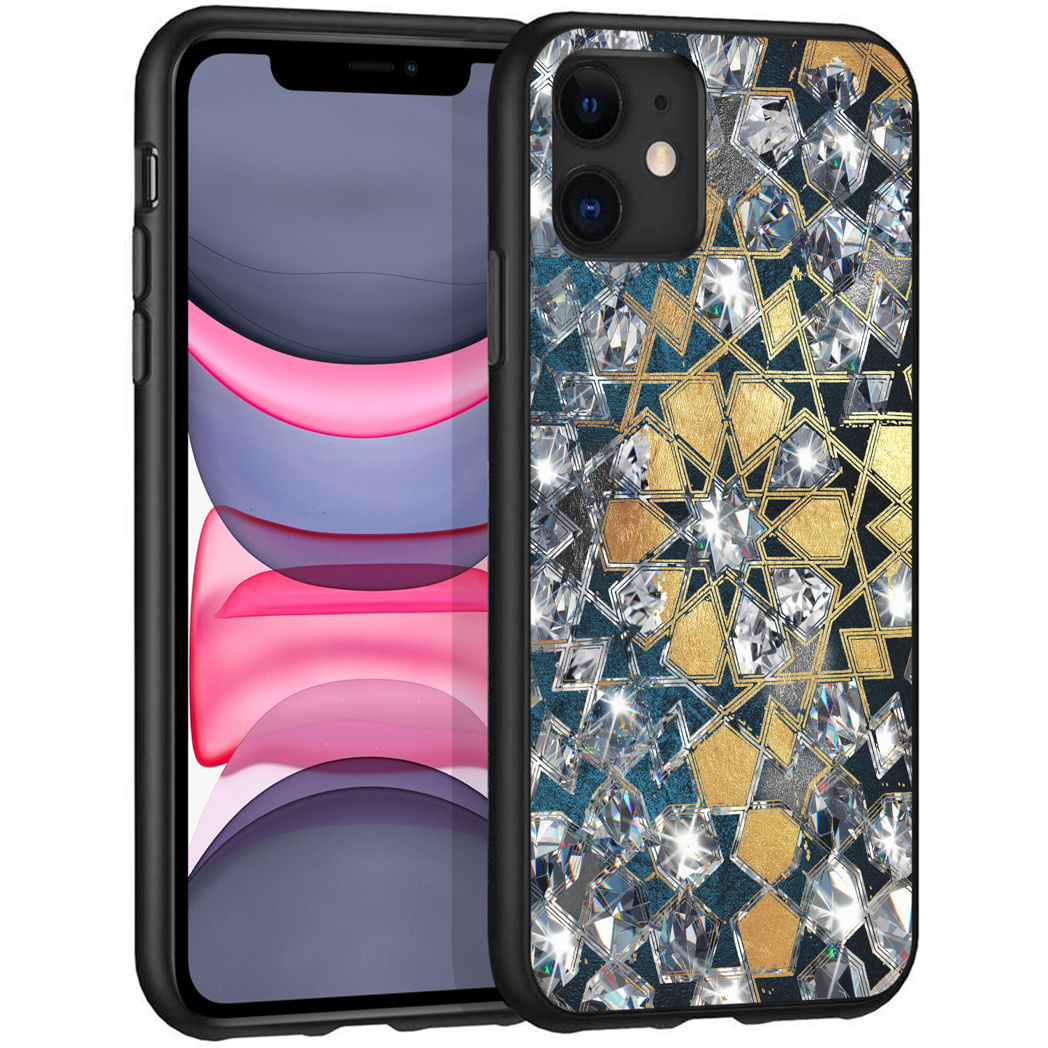 iMoshion Design hoesje iPhone 11 - Grafisch - Goud Bling