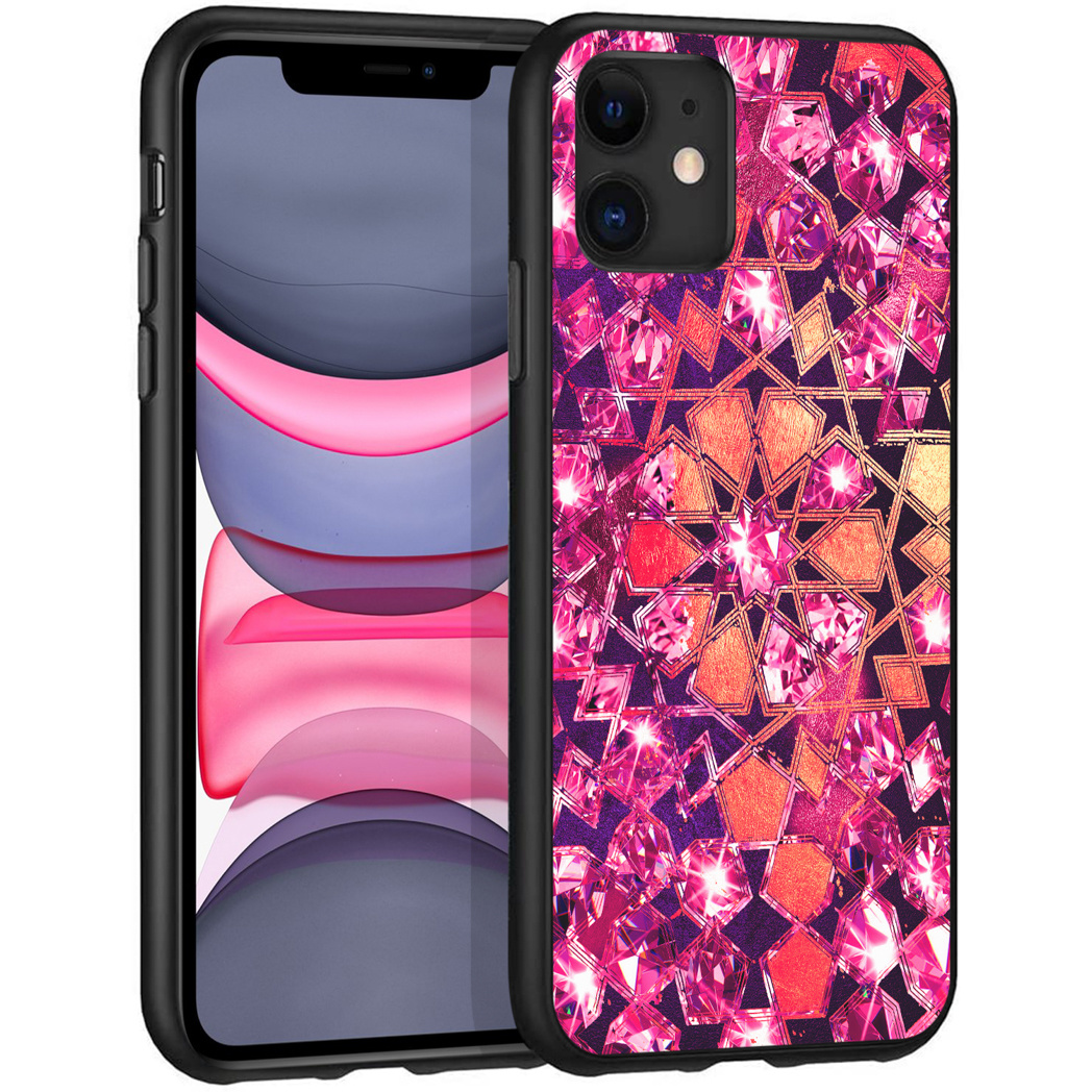 iMoshion Design hoesje iPhone 11 - Grafisch - Roze Bling