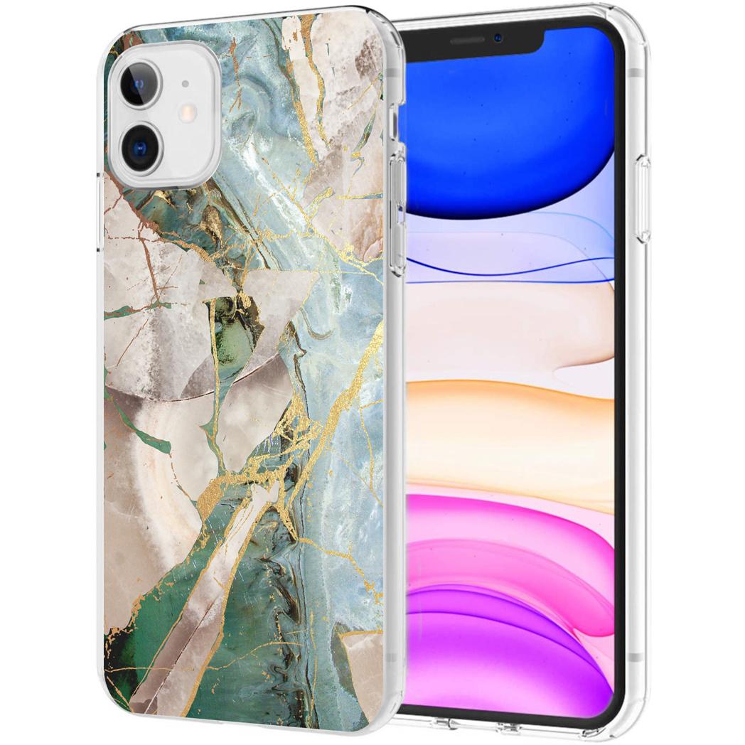 iMoshion Design hoesje iPhone 11 - Marmer - Gebroken Beige