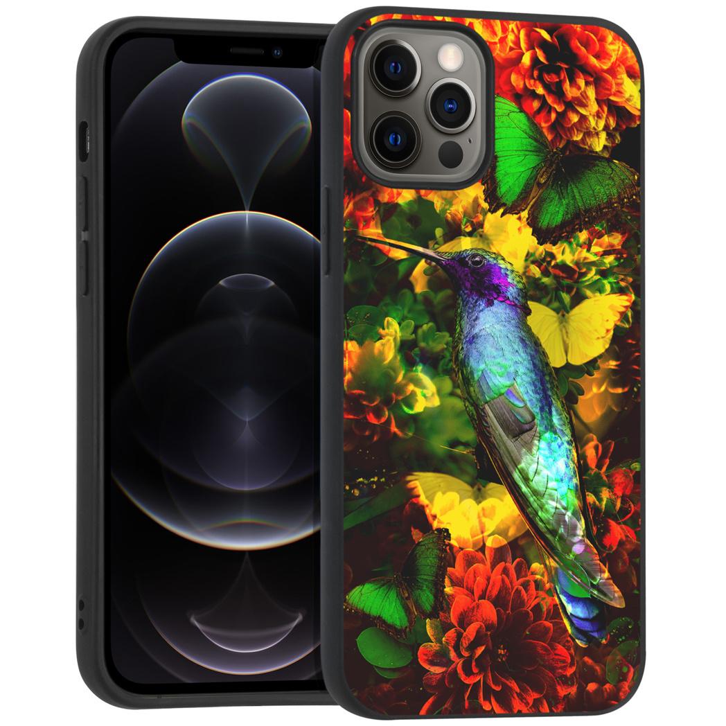 iMoshion Design hoesje iPhone 12 (Pro) - Jungle - Vogel