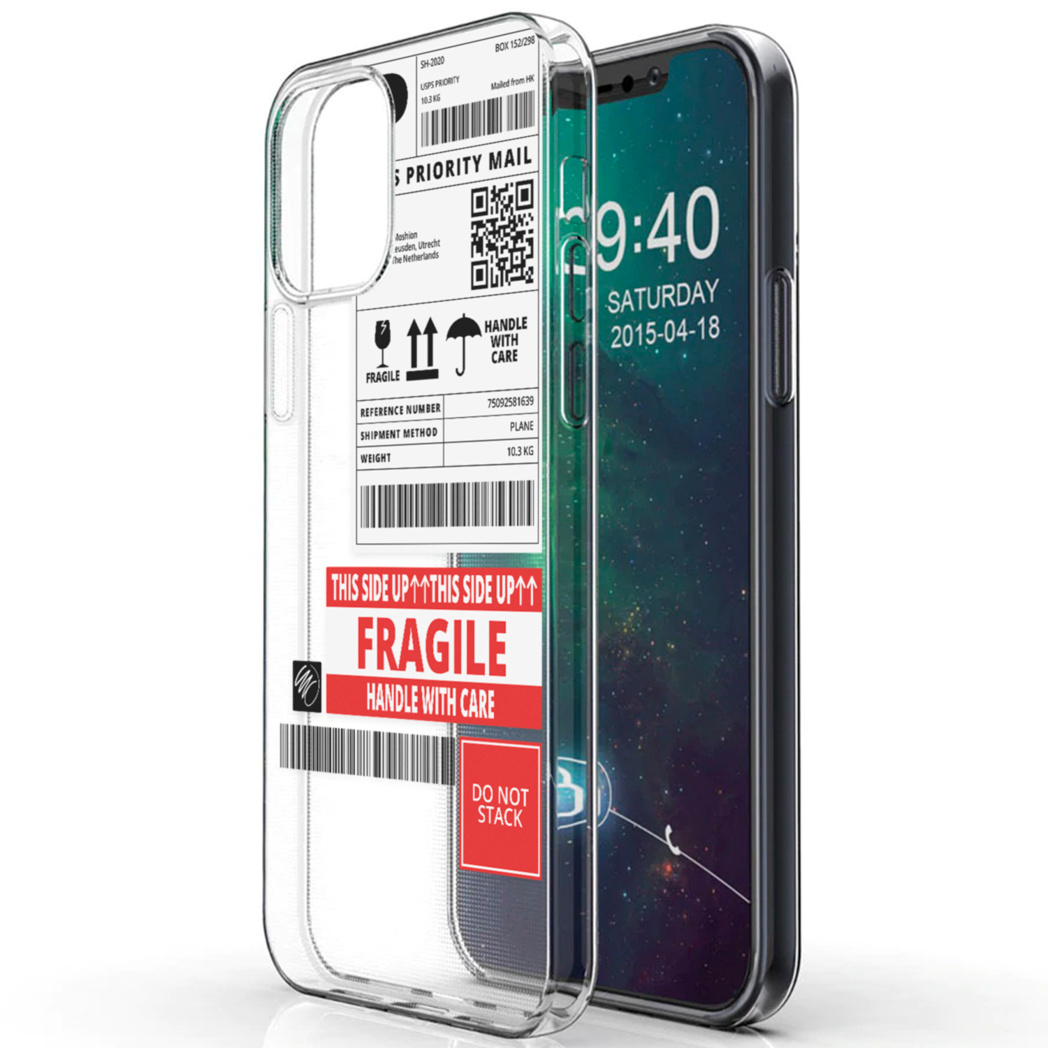 iMoshion Design hoesje iPhone 12 (Pro) - Label