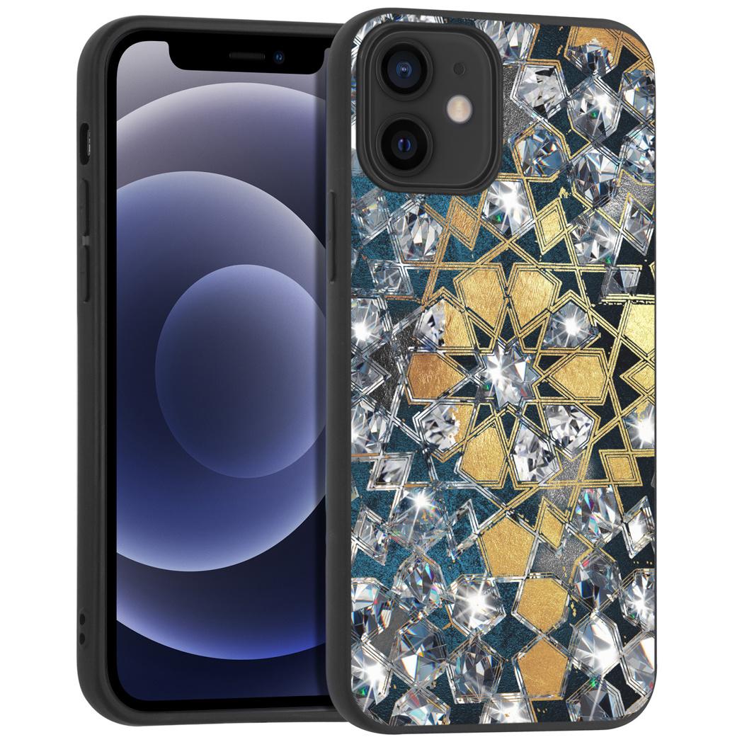 iMoshion Design hoesje iPhone 12 Mini - Grafisch - Goud Bling