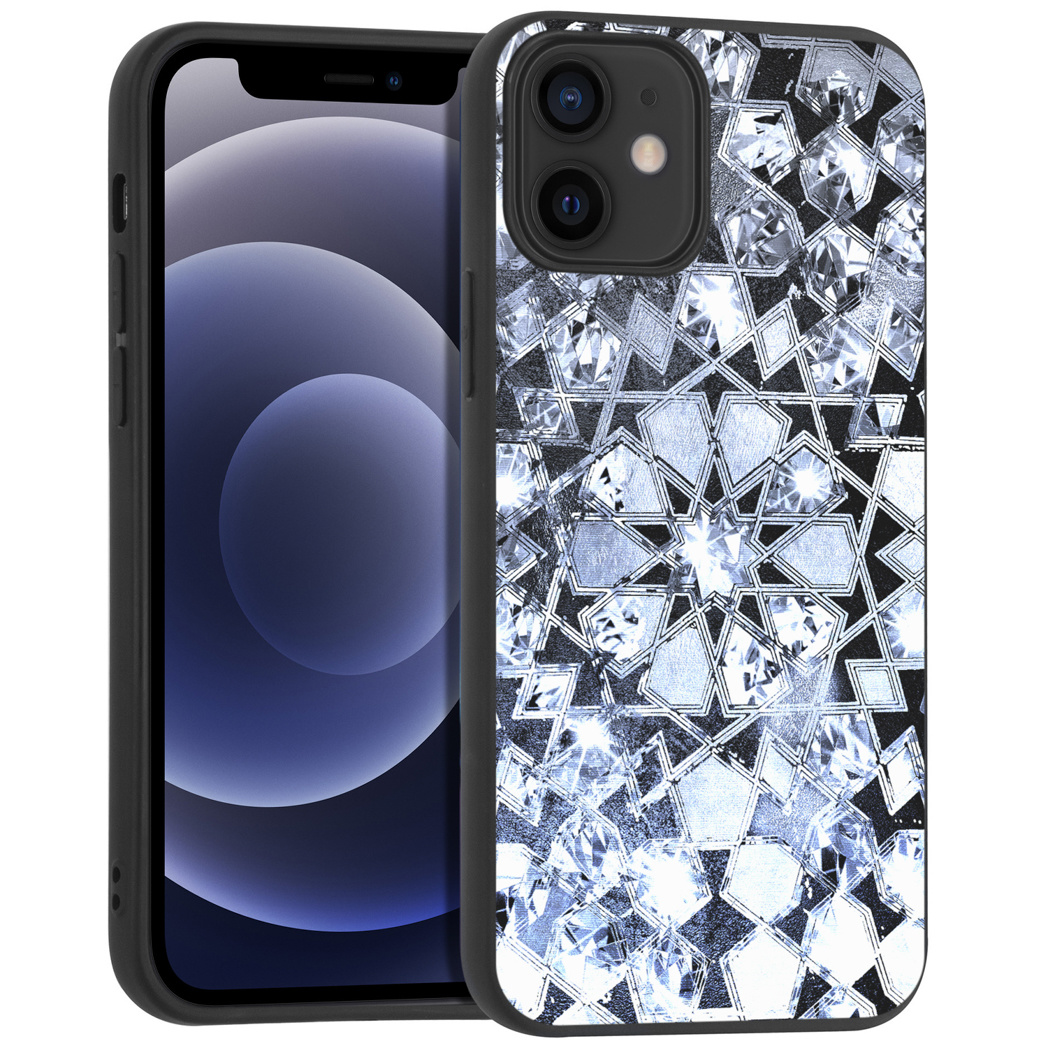 iMoshion Design hoesje iPhone 12 Mini - Grafisch - Zilver Bling