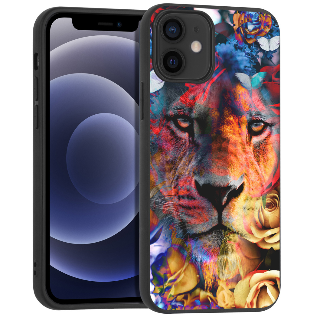 iMoshion Design hoesje iPhone 12 Mini - Jungle - Leeuw