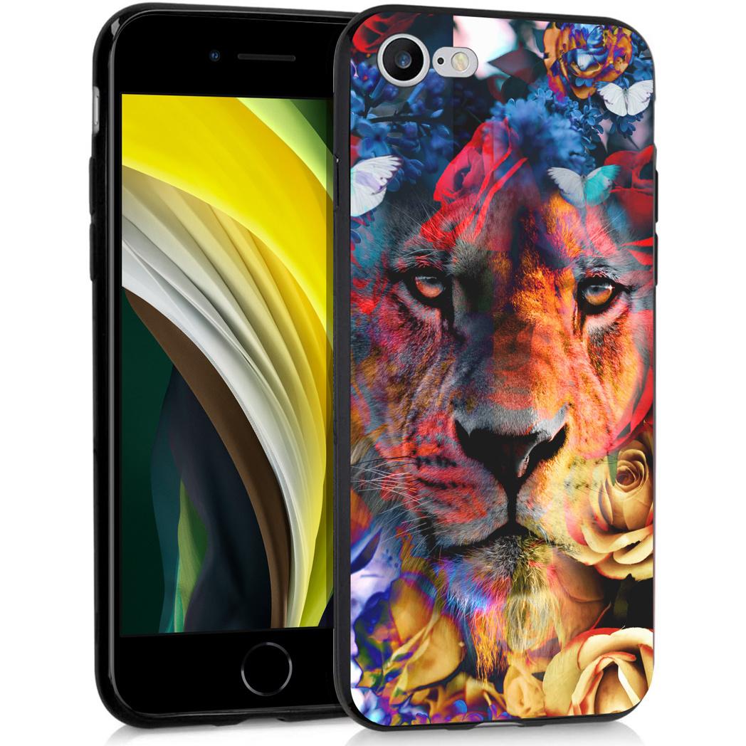 iMoshion Design hoesje iPhone SE (2020) / 8 / 7 - Jungle - Leeuw